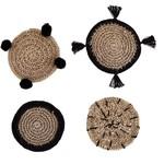Santa Barbara Designs Sea grass Coasters W/ Burlap Bag