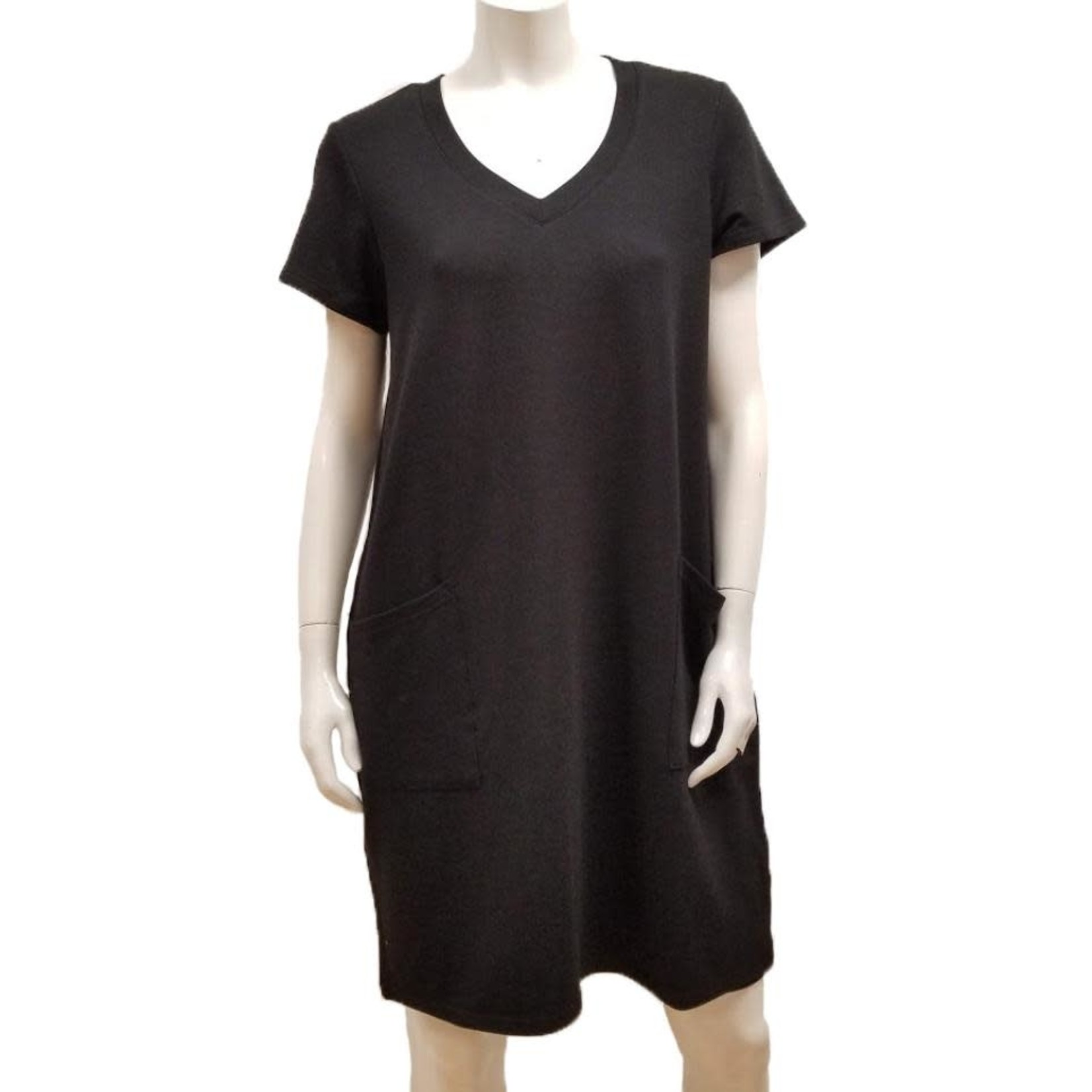 Gilmour Bamboo French Terry V-Neck Dress
