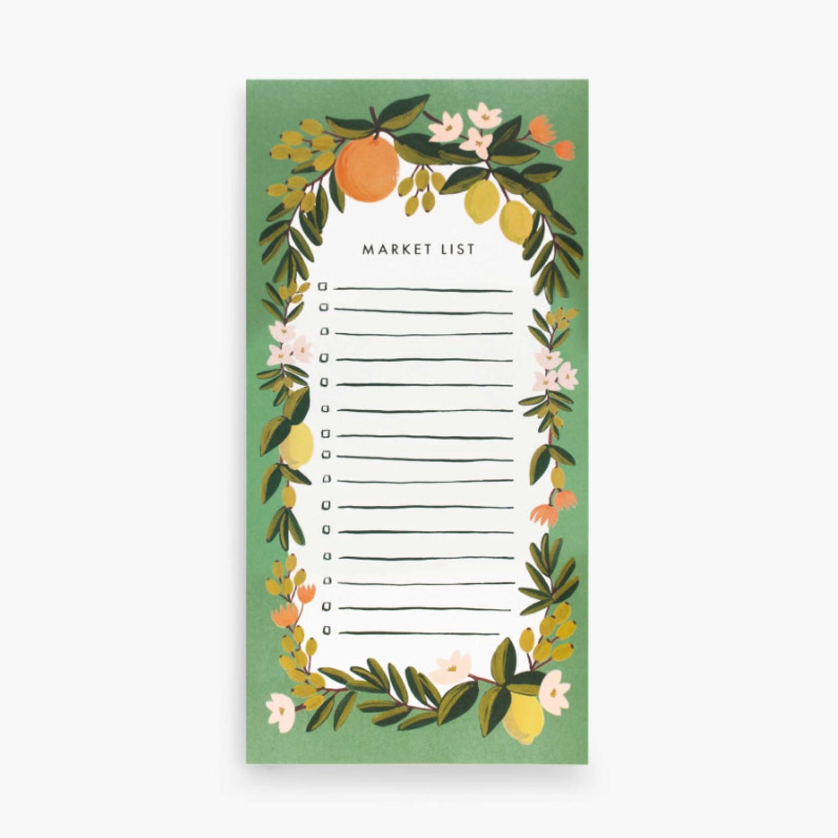 Paper E clips Inc Market List Notepad