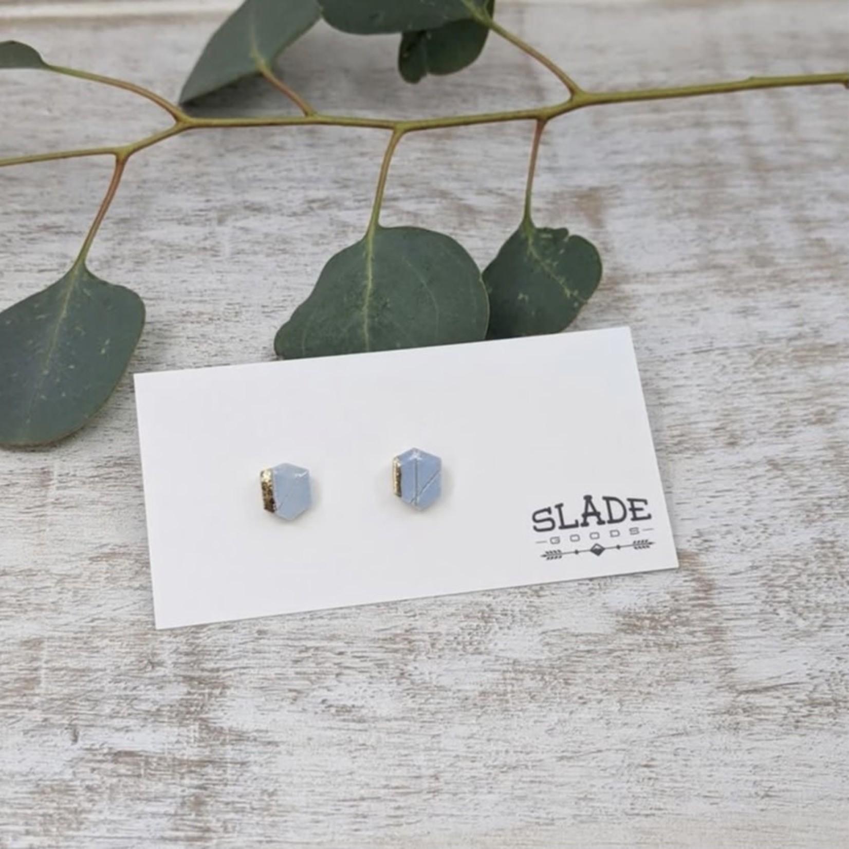 Slade Goods Gold Trim Stud Earrings