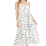 Papillon Ditsy Printed Crinkle Tiered Dress