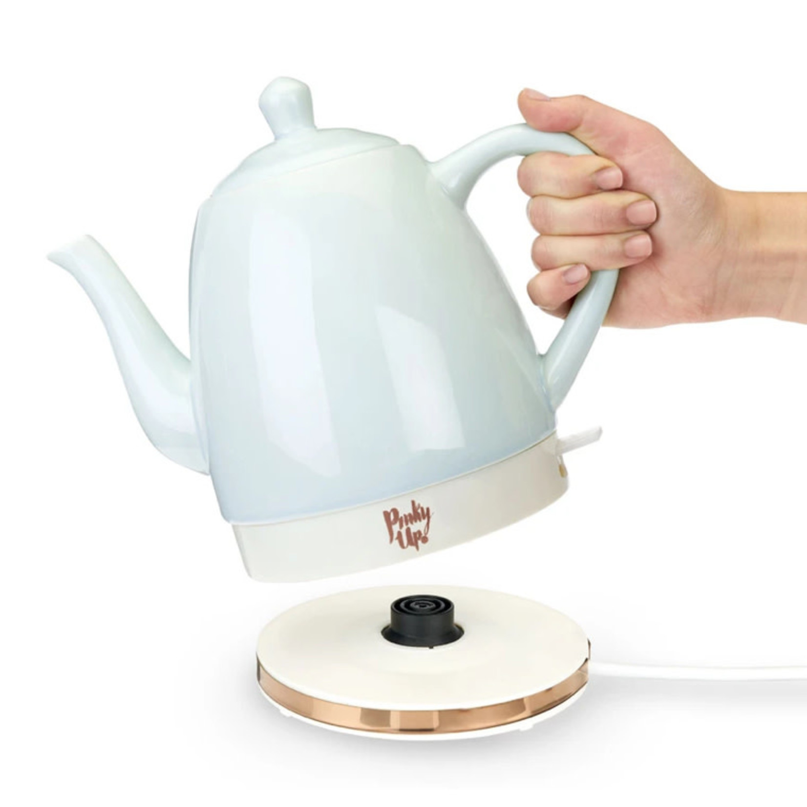Pinky Up Noelle Ceramic Electric Tea Kettle
