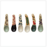 Creative Co-op Hand Painted Stoneware Spoon