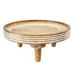 Indaba Coralie Round Footed Tray