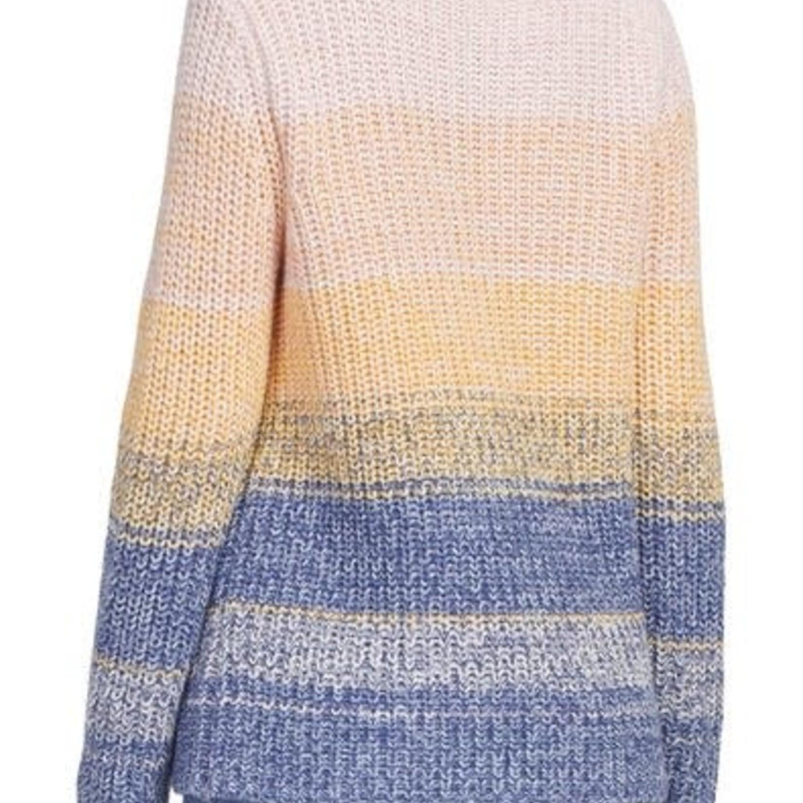 tribal Colour Blocked Long Sleeve Crew Neck Sweater