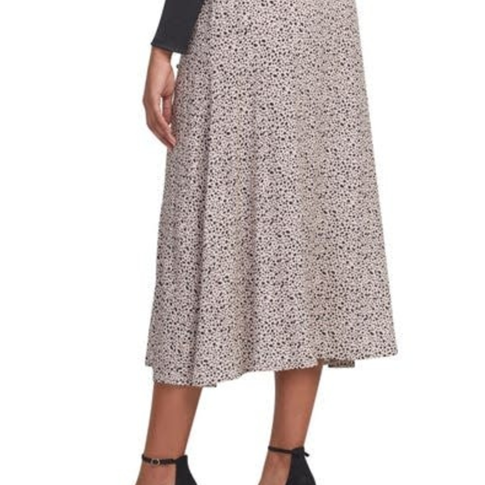 tribal Pull On Buttoned Skirt