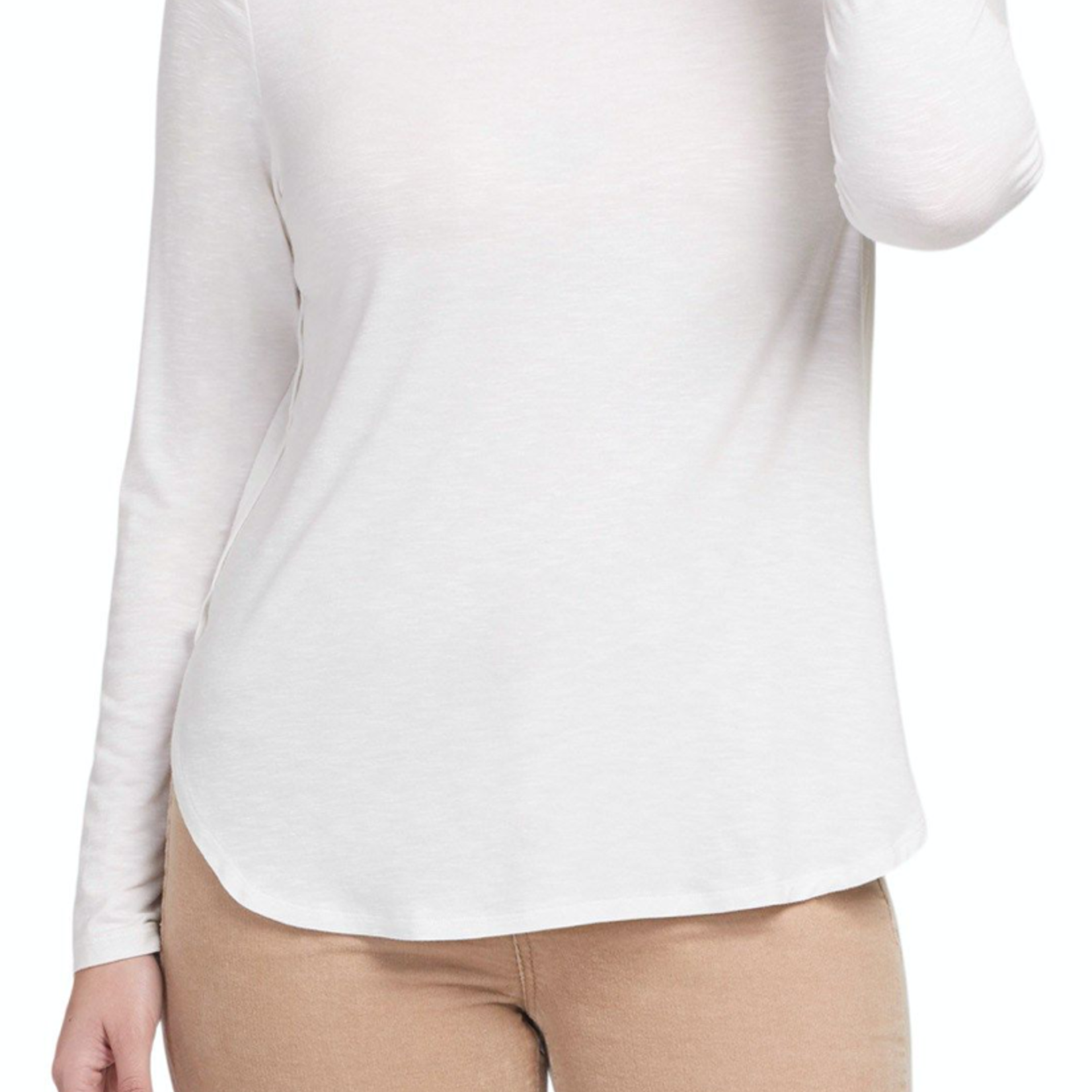 tribal Long Sleeve Crew Neck With Button Back Detail