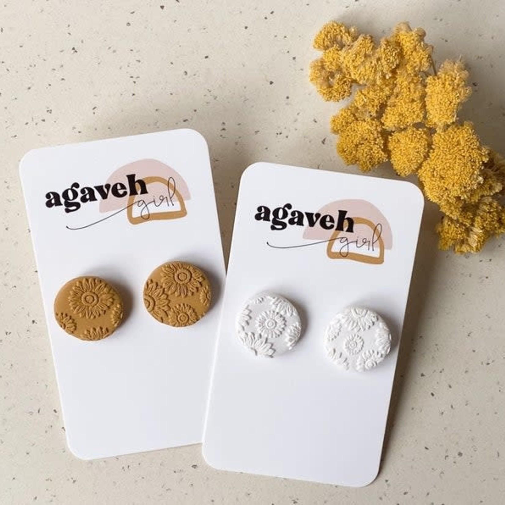 agaveh girl Sunflower Studs