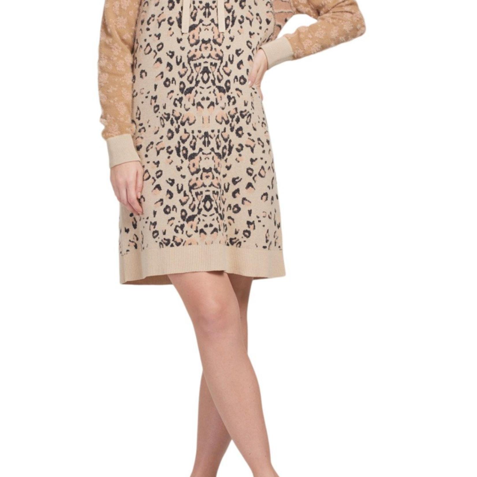 tribal Intarsia Sweater Dress 47920