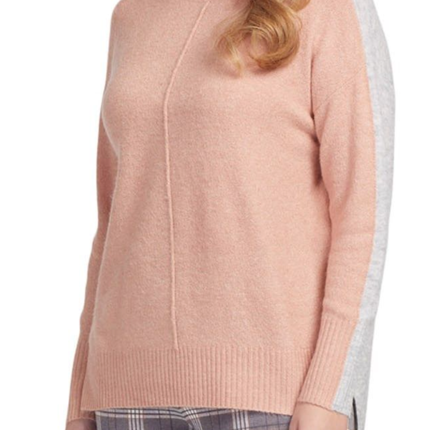 tribal Turtleneck Color Block Sweater 43920