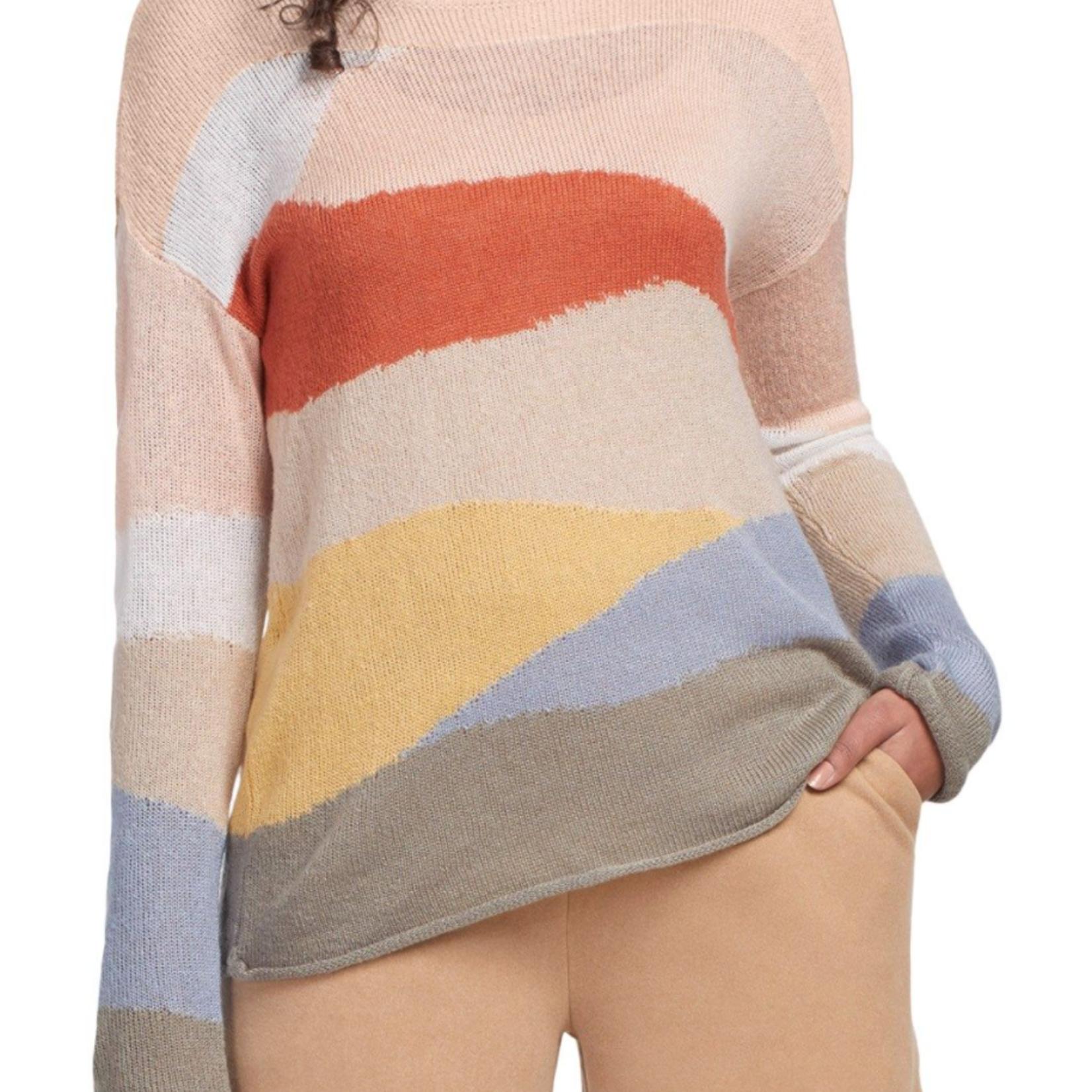 tribal Scoop Neck Intarsia Sweater 46690