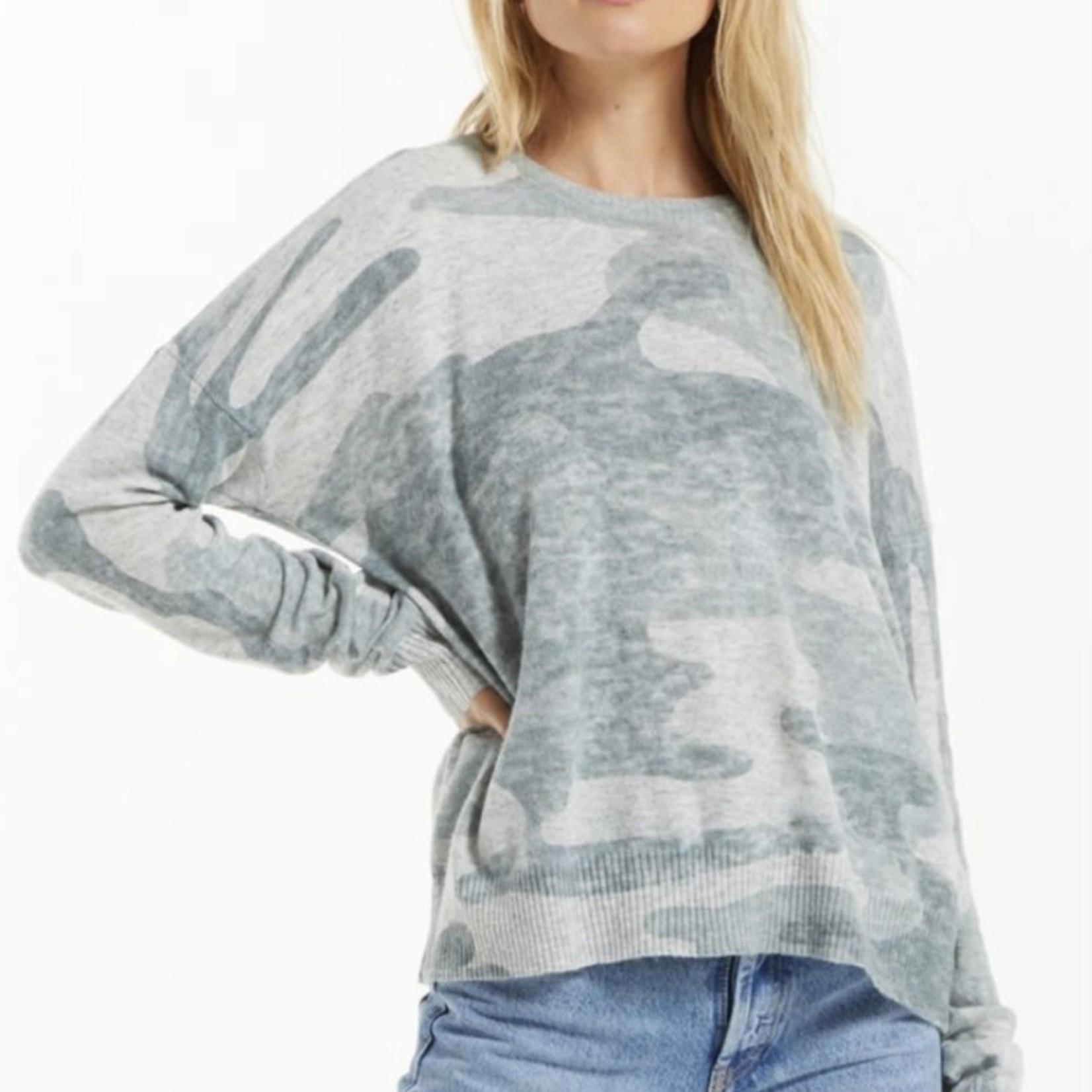 z supply Larisa Camo Sweater
