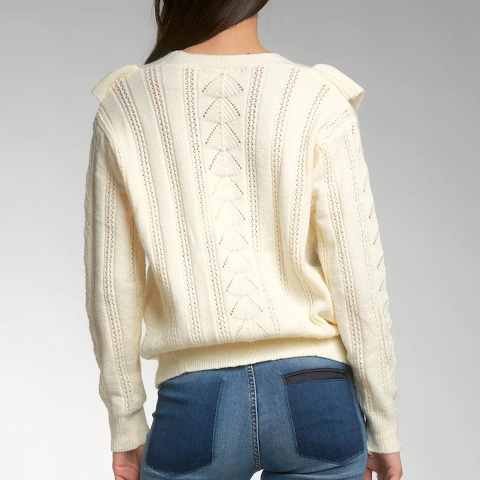 Elan Ruffle Sweater Cardigan SW10681