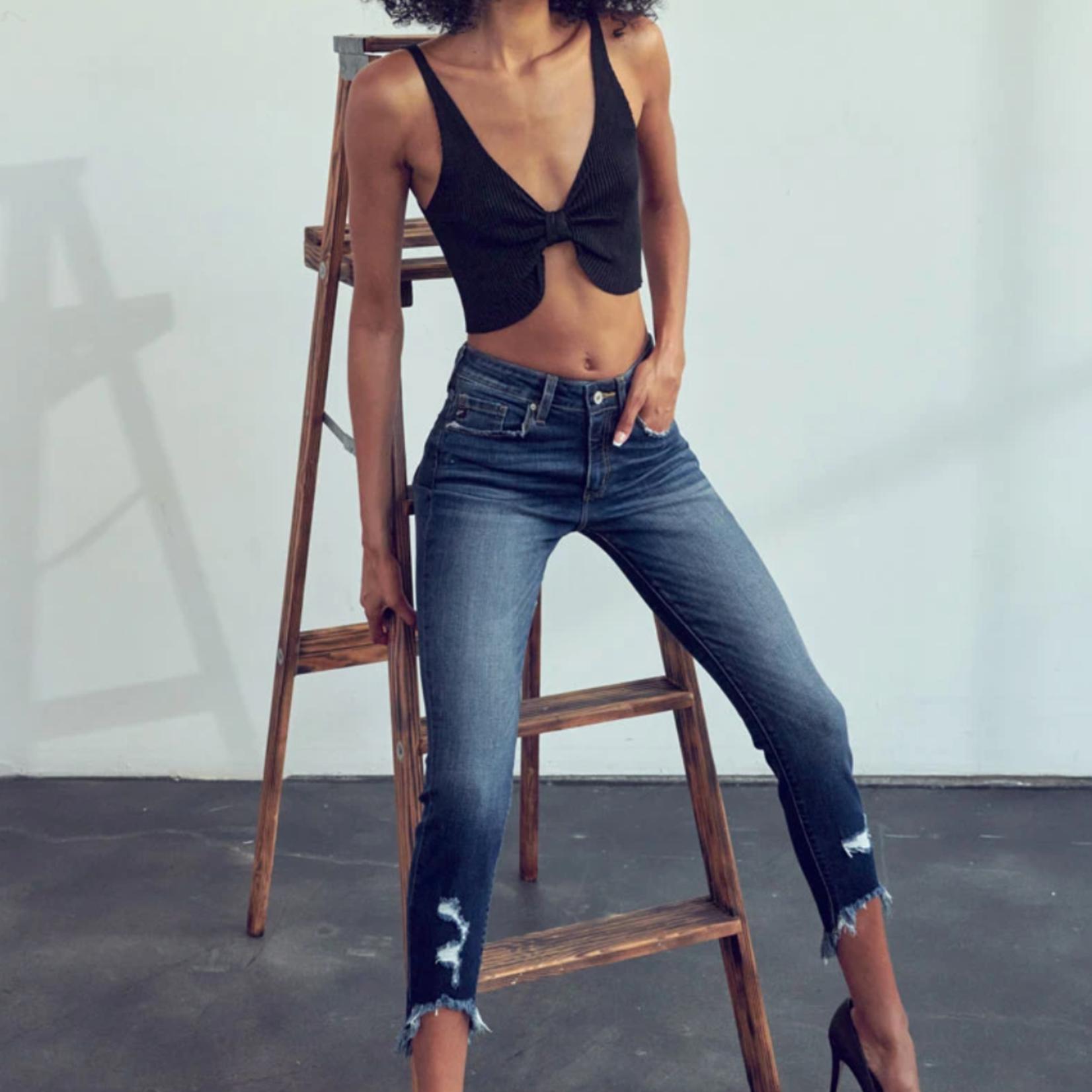 Kancan Christina High Rise Ankle Skinny Jeans
