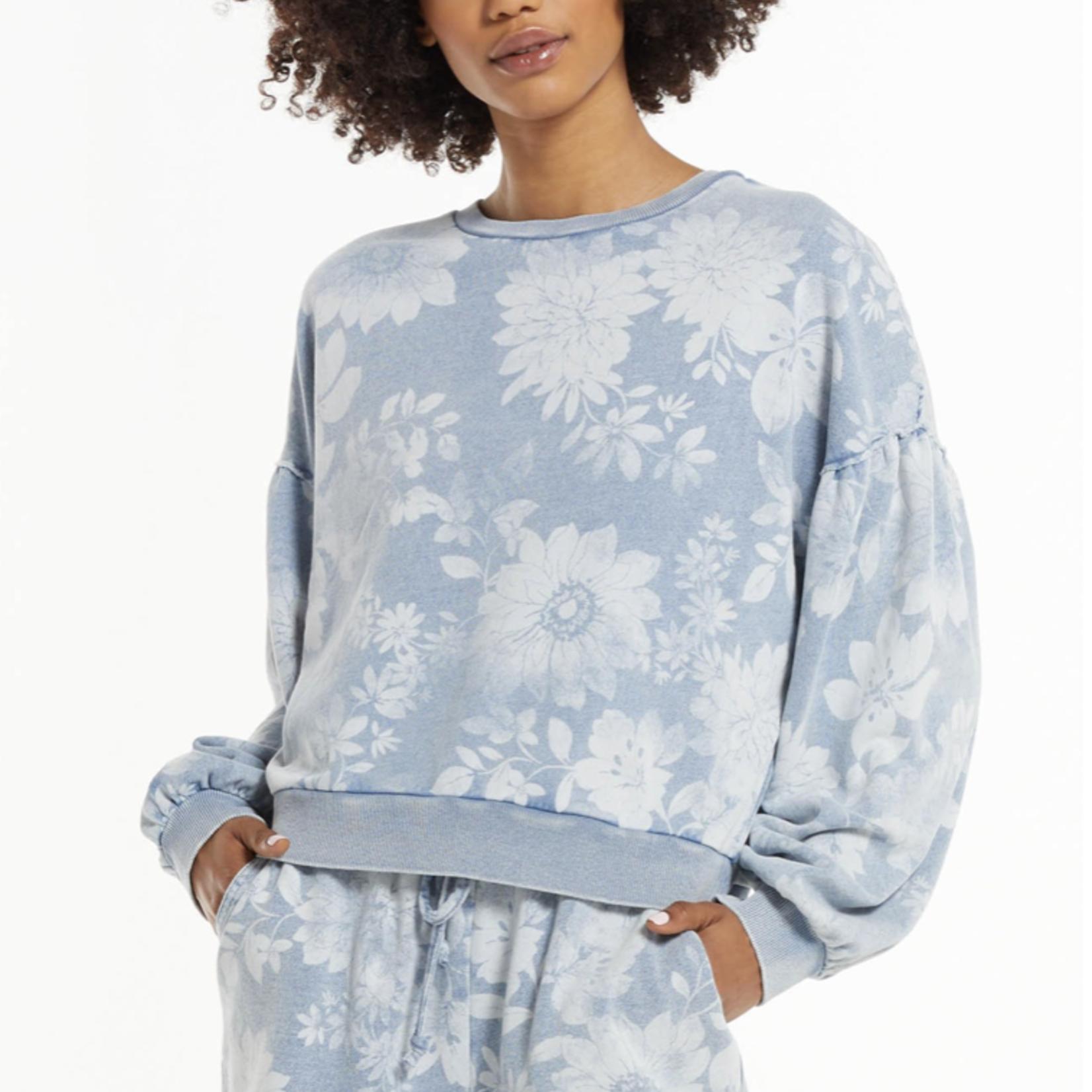 z supply Claire Floral Sweatshirt