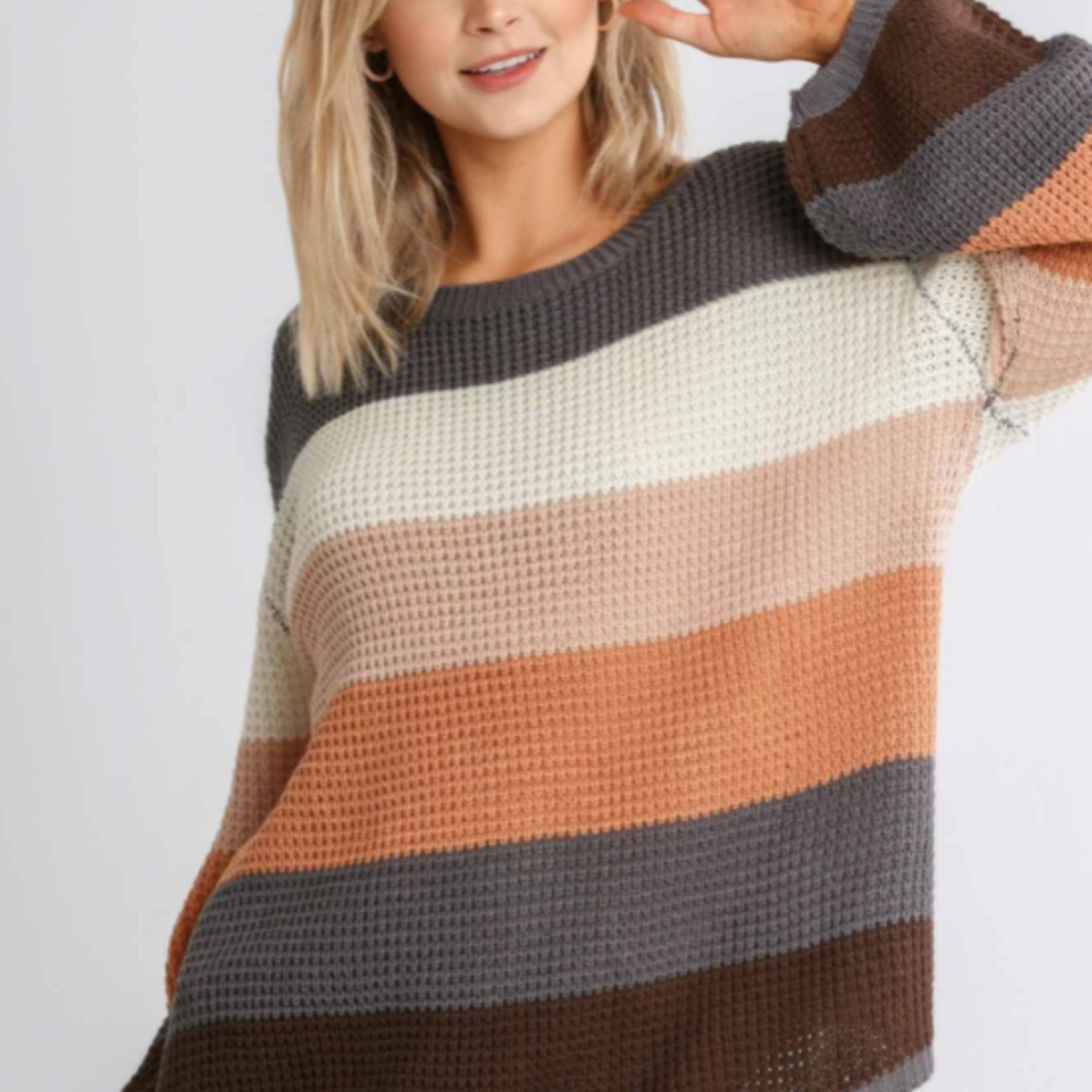 umgee Stripe Sweater A5819