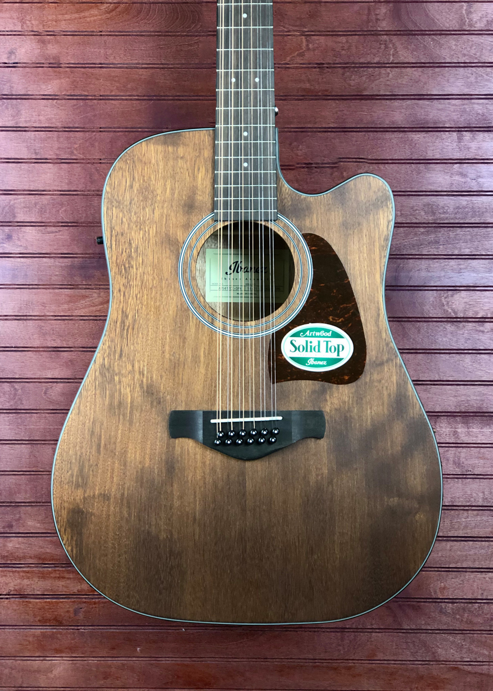 Ibanez AW5412ce Open Pore Natural 12-String