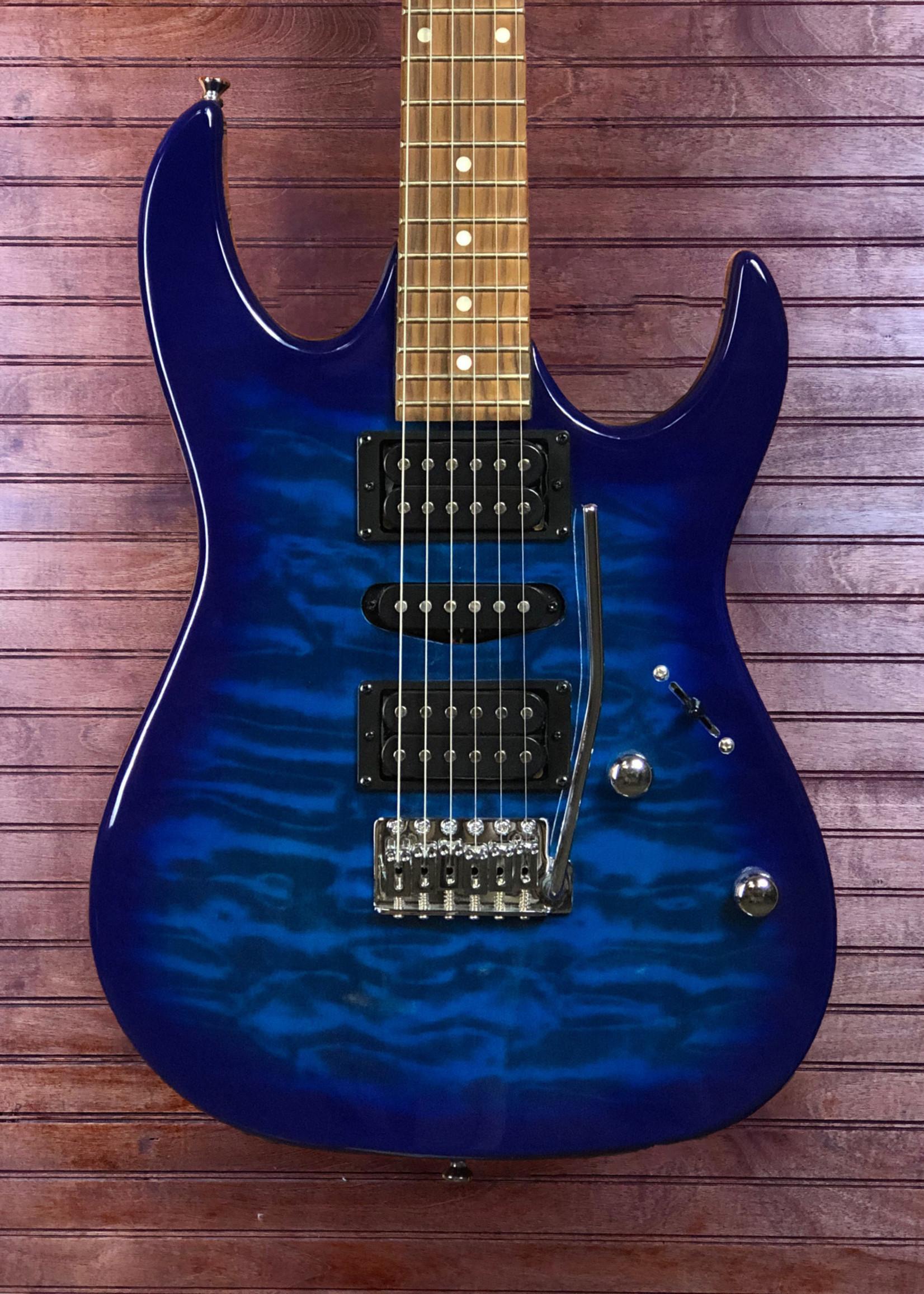 Ibanez GRX70QA Transparent Blue Burst