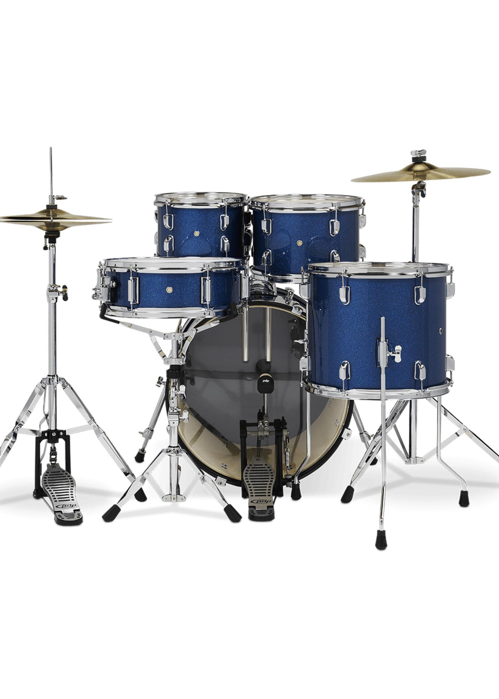 DW PDP Center Stage 5-Piece Kit Royal Blue Sparkle