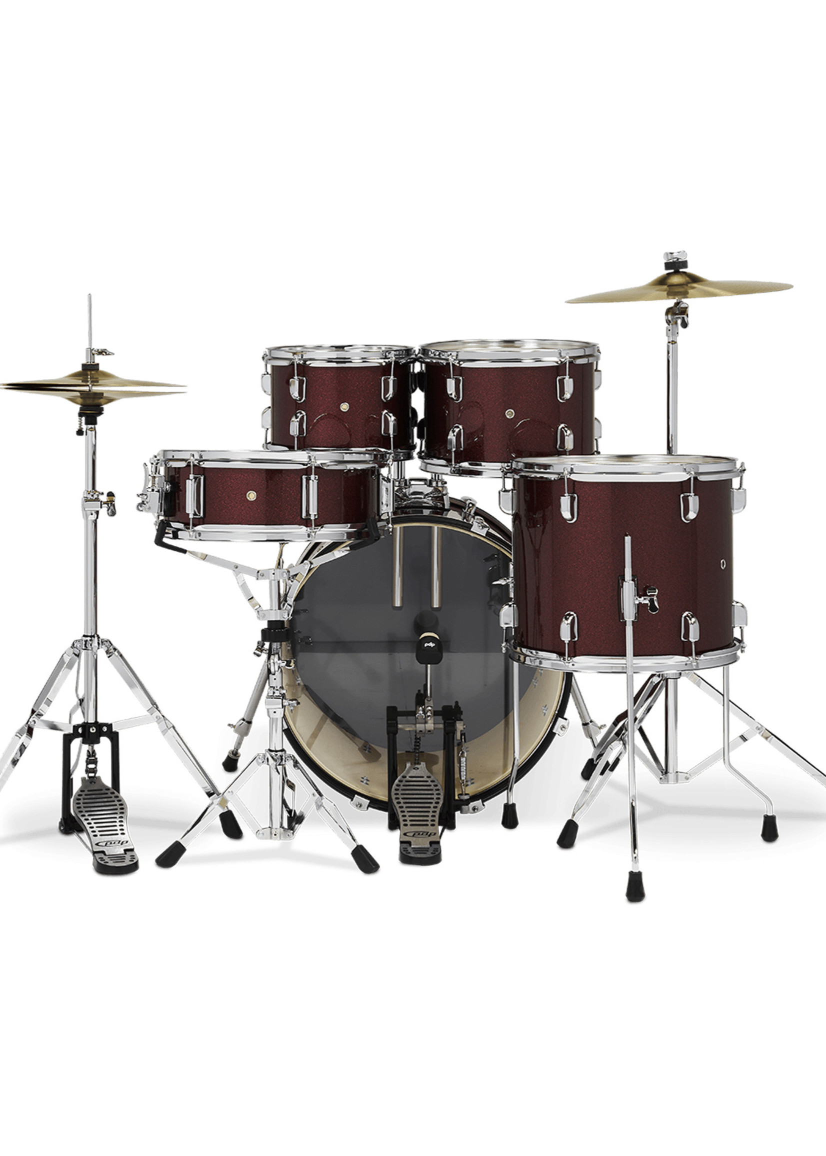 PDP PDP Center Stage 5-Piece Kit Ruby Red Sparkle