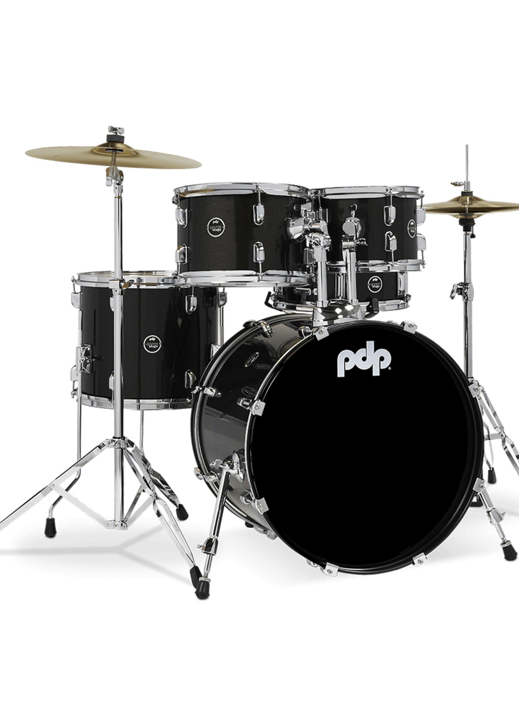 PDP PDP Center Stage 5-Piece Kit Iridescent Black Sparkle