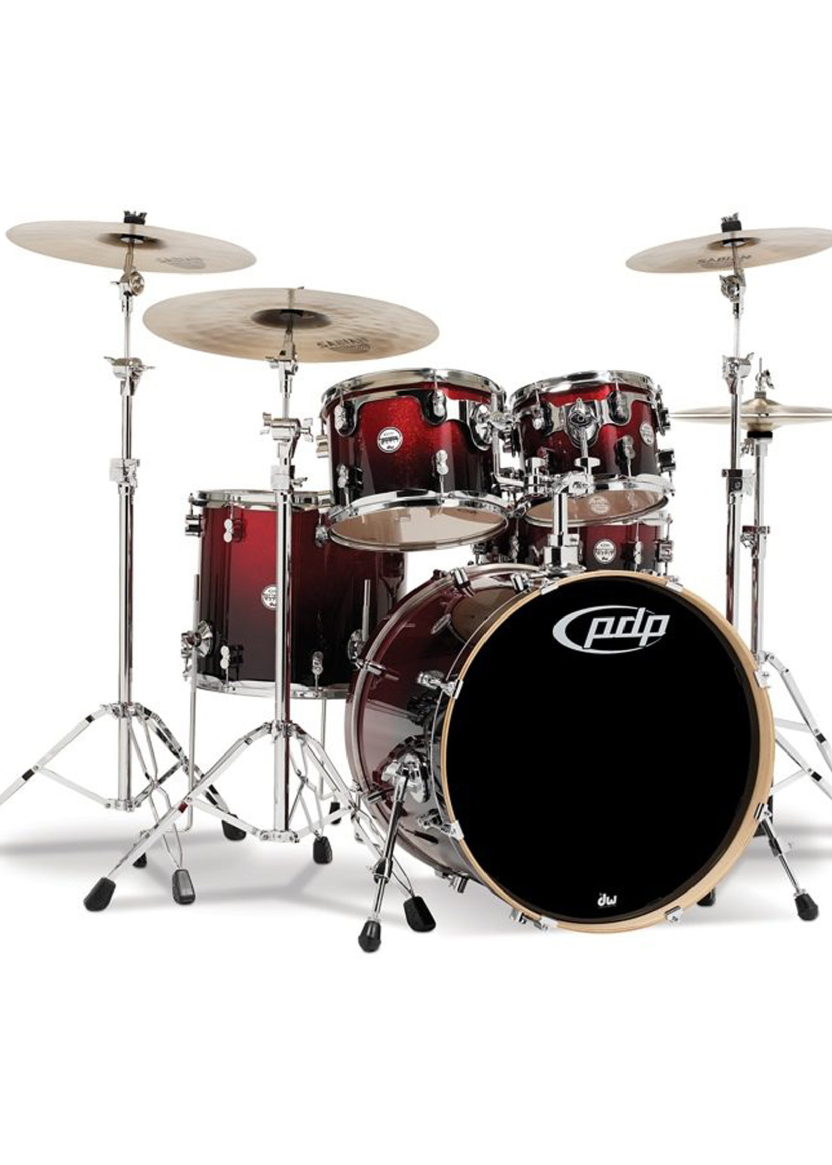 PDP PDP Concept Maple 5-Piece Shell Pack Red to Black Fade
