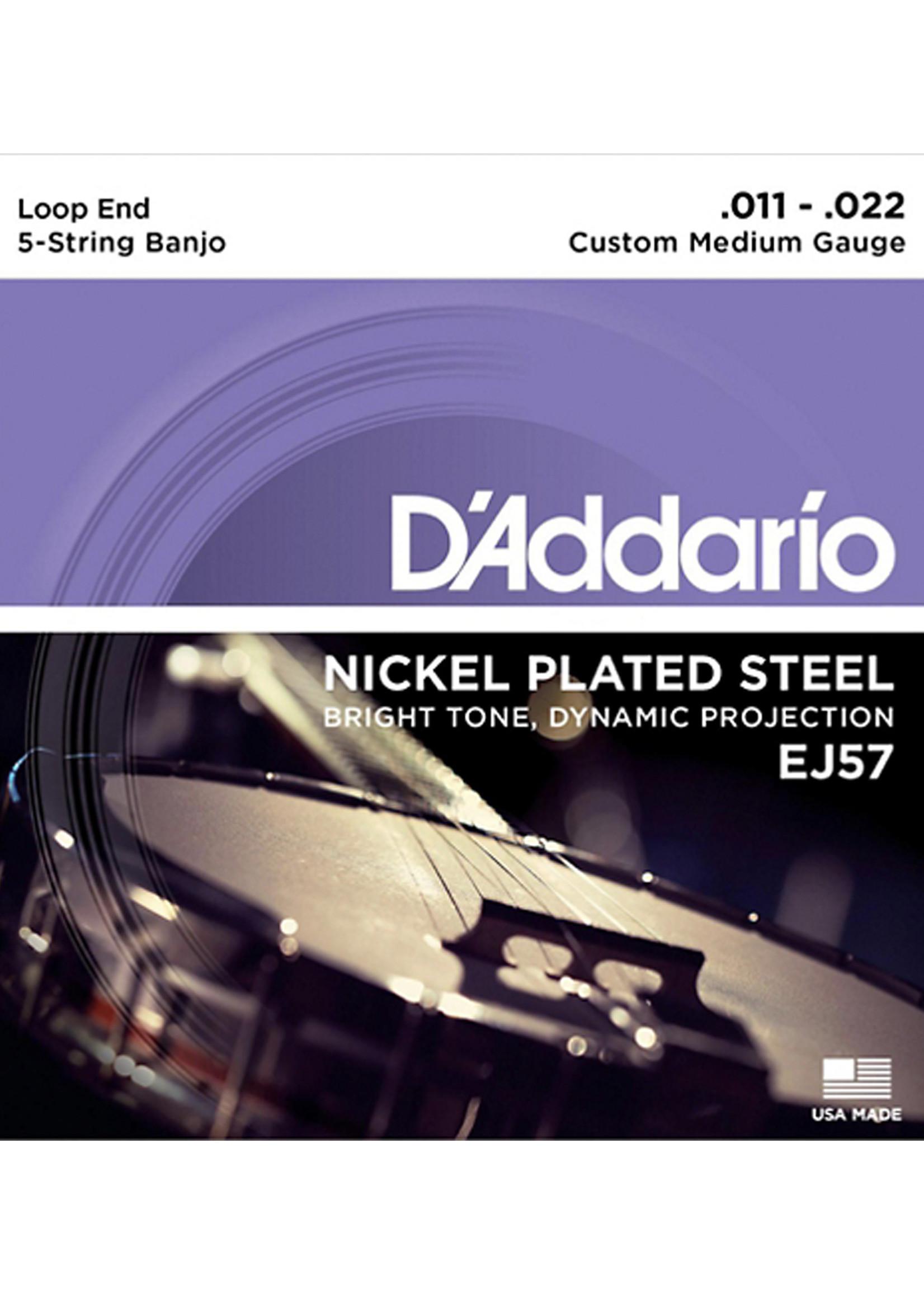 DAddario Fretted D'Addario EJ57 11-22 Custom Medium