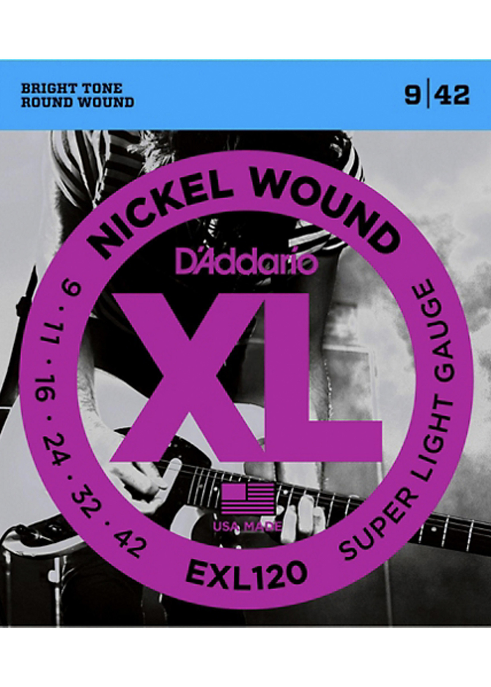 DAddario Fretted D'Addario EXL120 9-42