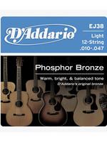 DAddario Fretted D'Addario EJ38 12-String