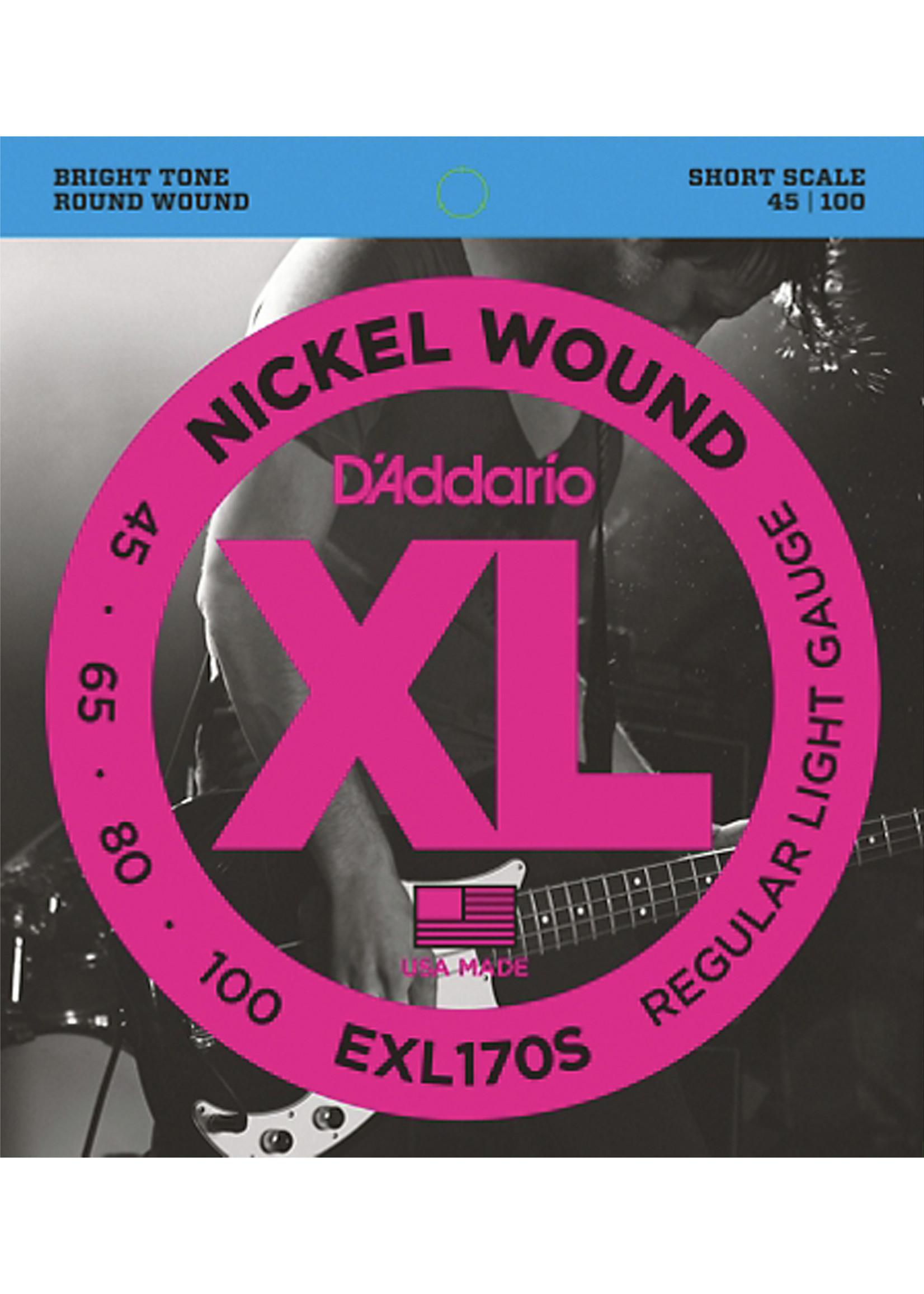 DAddario Fretted D'Addario EXL-170S 45-100 Short Scale