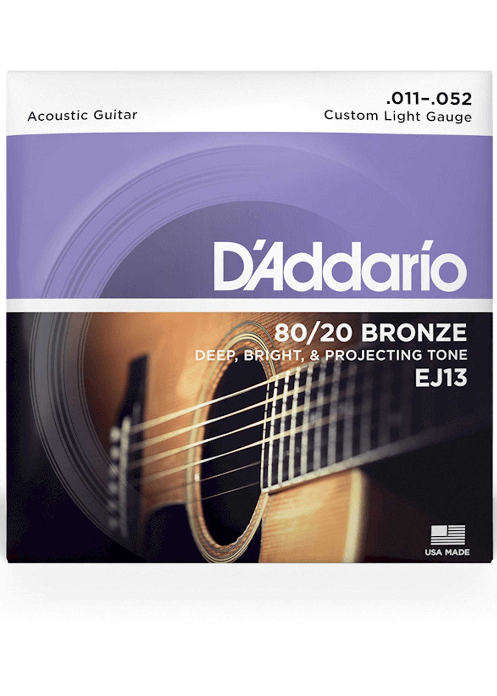 DAddario Fretted D'Addario EJ13 11-52 Custom Light
