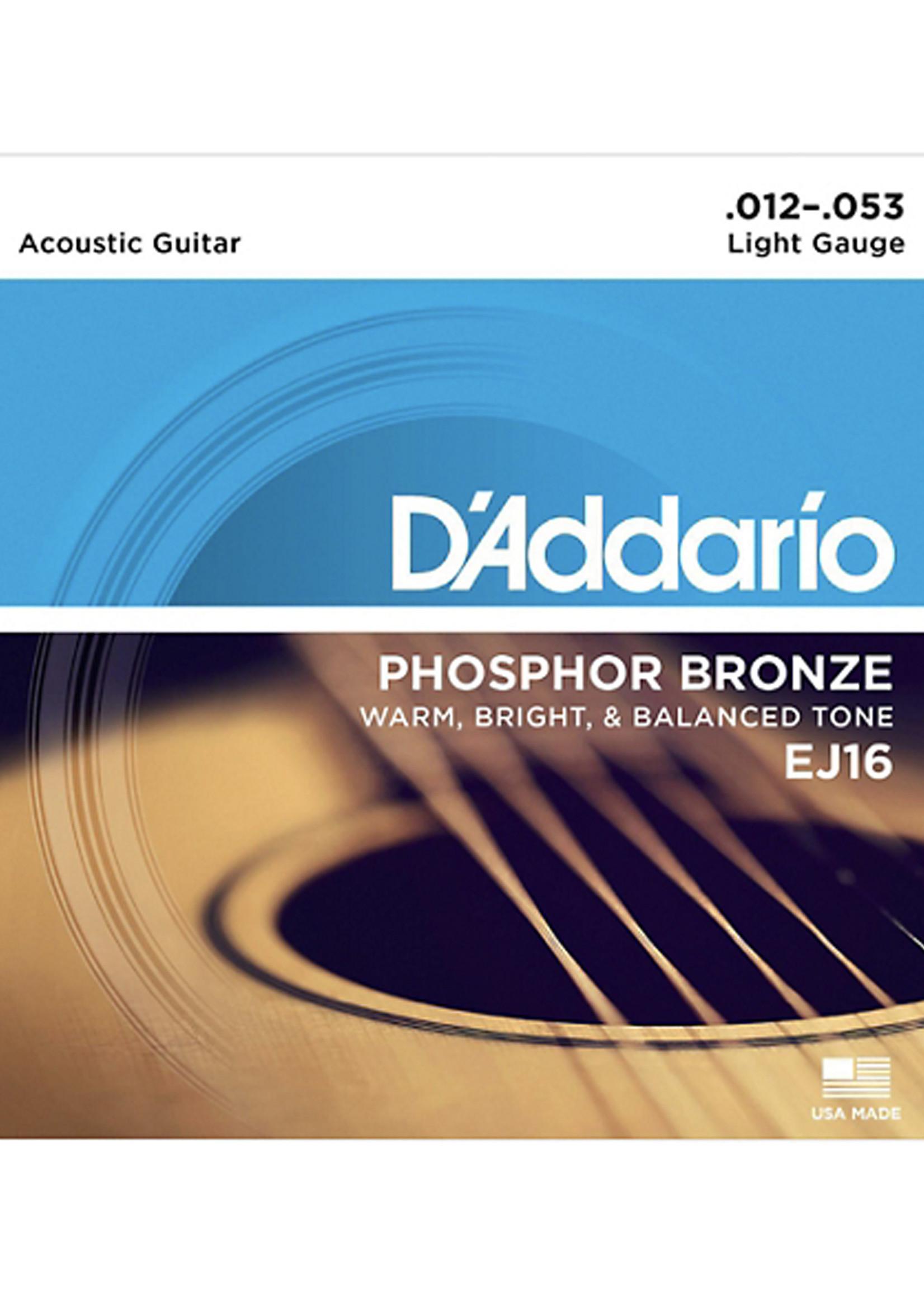 DAddario Fretted D'Addario EJ16 12-53 Light