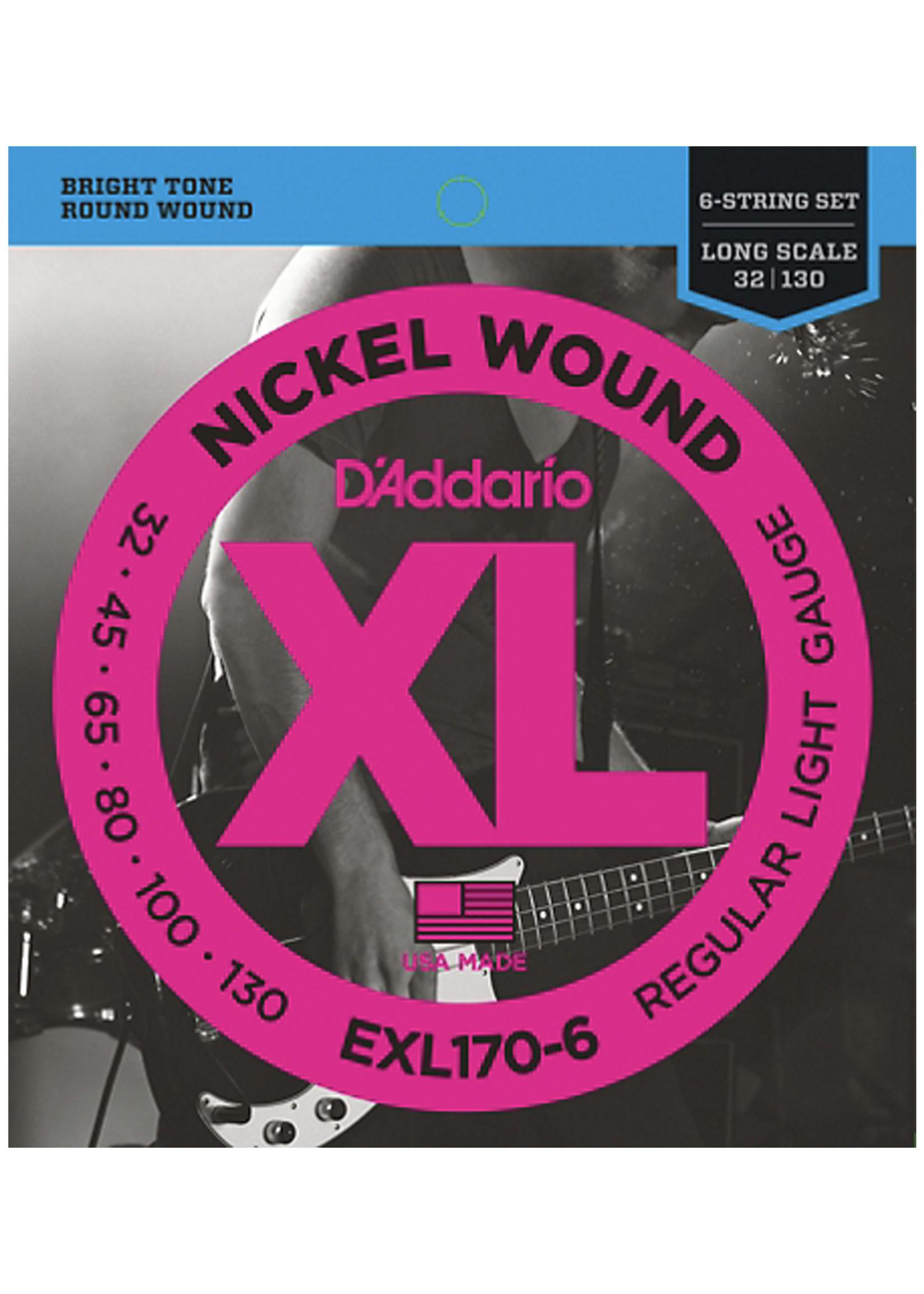 DAddario Fretted D'Addario EXL170-6, 32-130