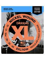 DAddario Fretted D'Addario EXL110W, Wound Third, 10-46