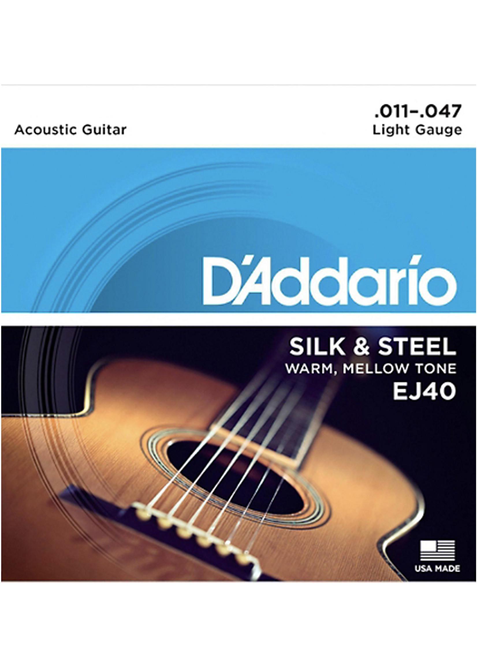 DAddario Fretted D'Addario EJ40 Silk and Steel, 11-47