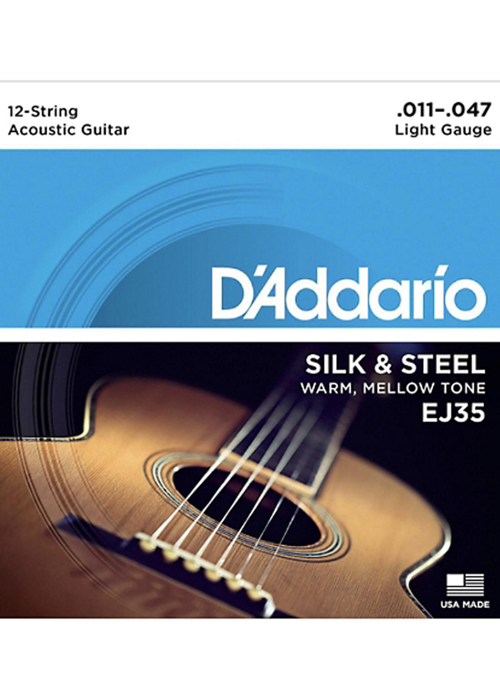 DAddario Fretted D'Addario EJ35 Silk and Steel, 12-String, 11-47