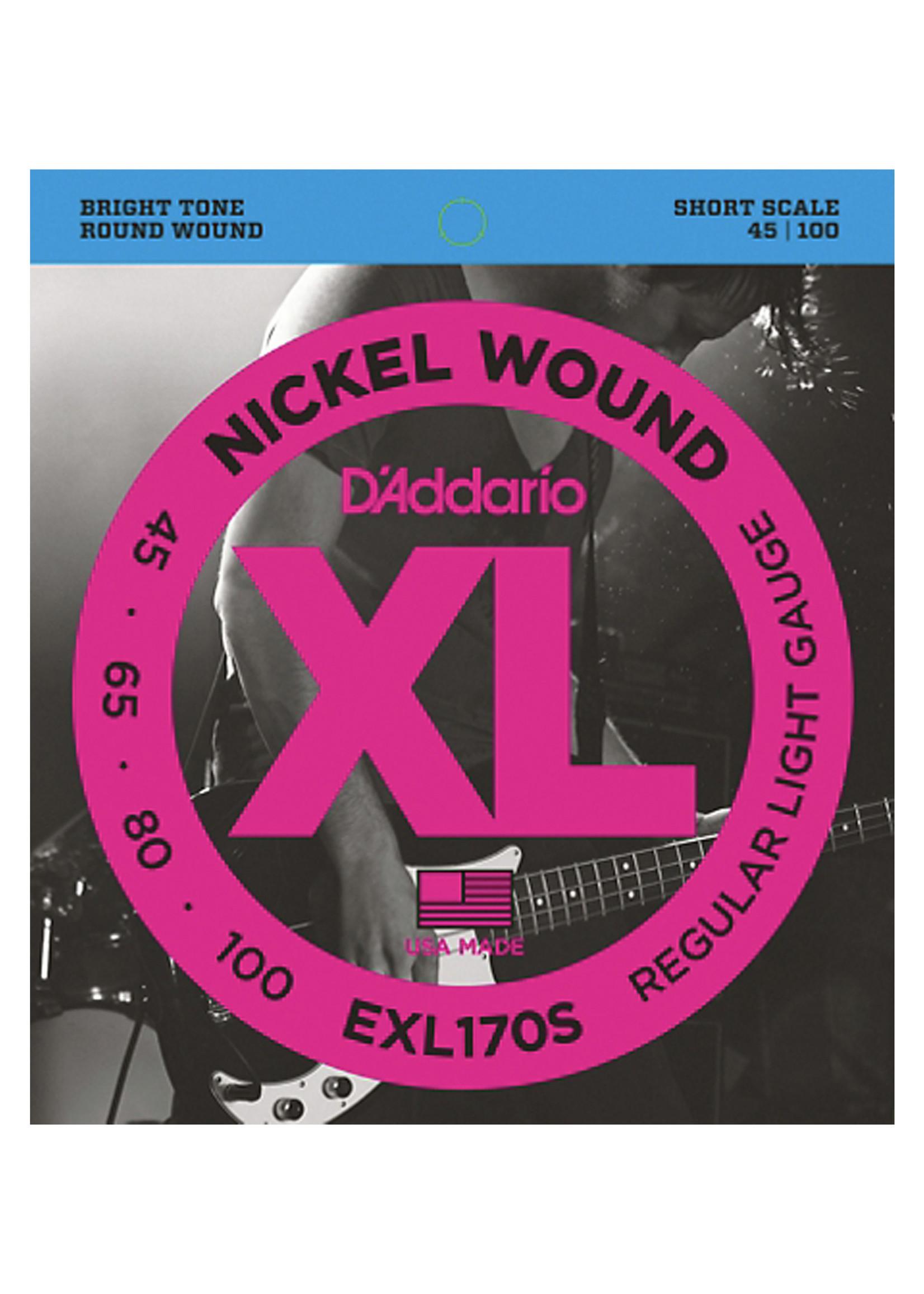 DAddario Fretted D'Addario EXL170s Short Scale, Light 45-100