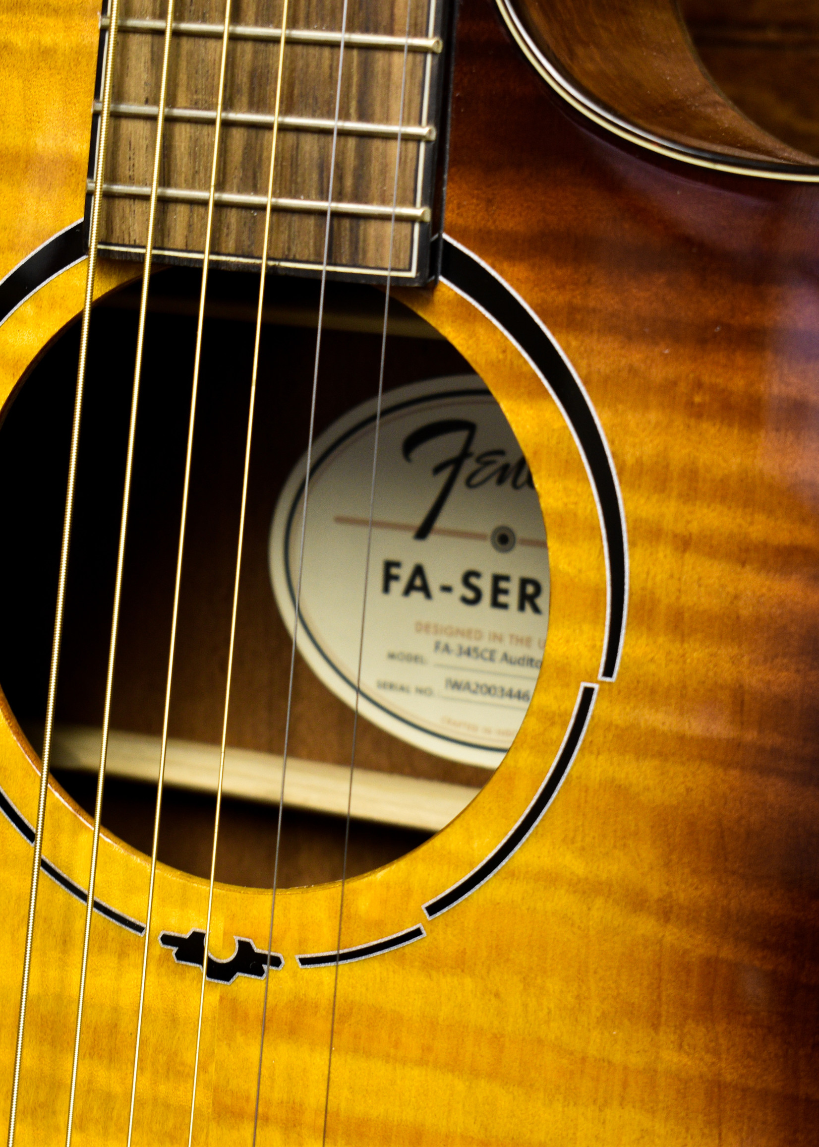 Fender Fender FA-345ce Auditorium Tea Burst