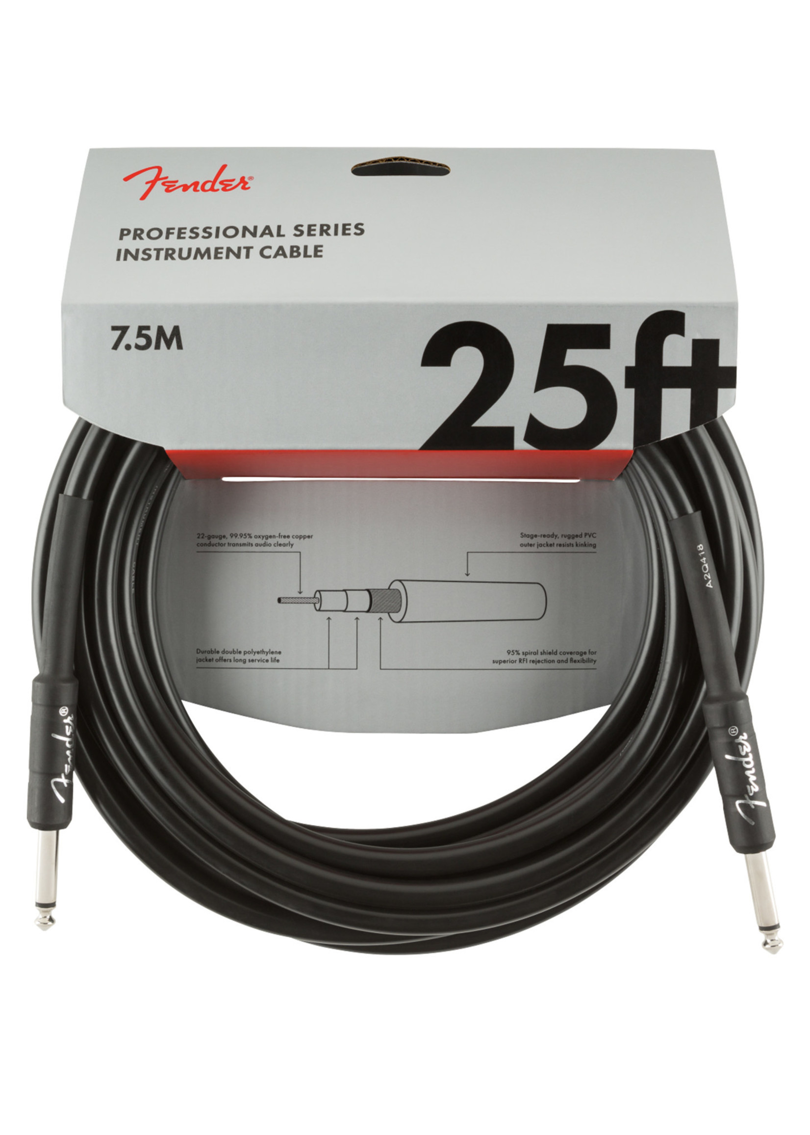 Fender Fender Professional Series 25 ft Black