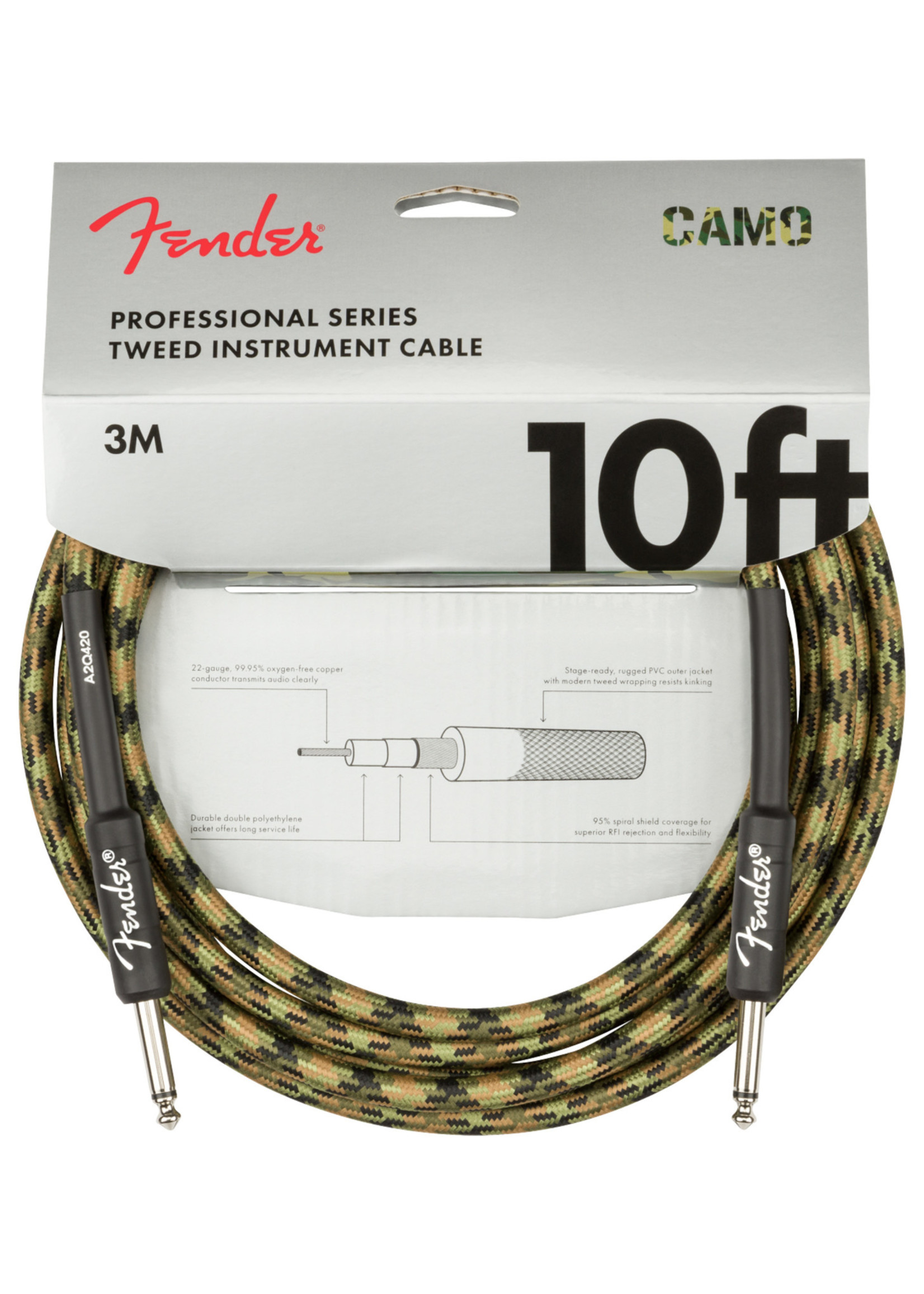 Fender Fender Professional Series 10 ft  Woodland Camo