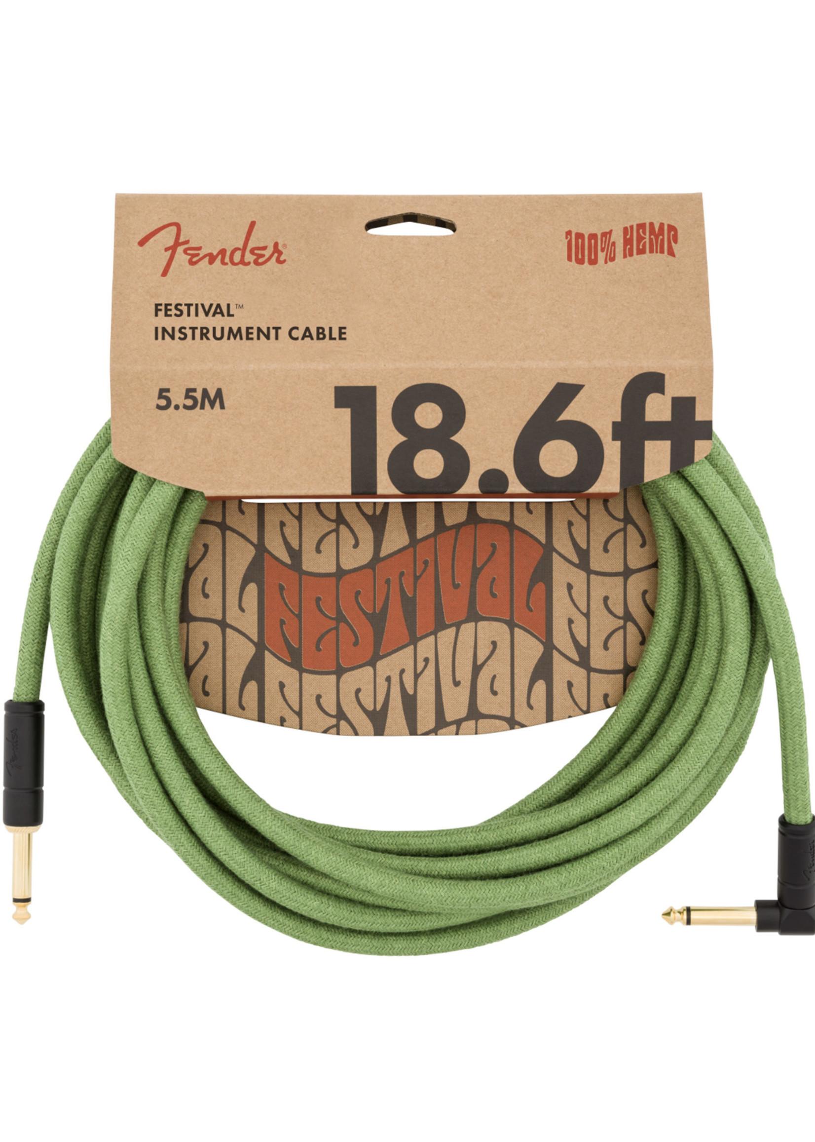 Fender Fender Festival Series 18.6 ft Right Angle Green