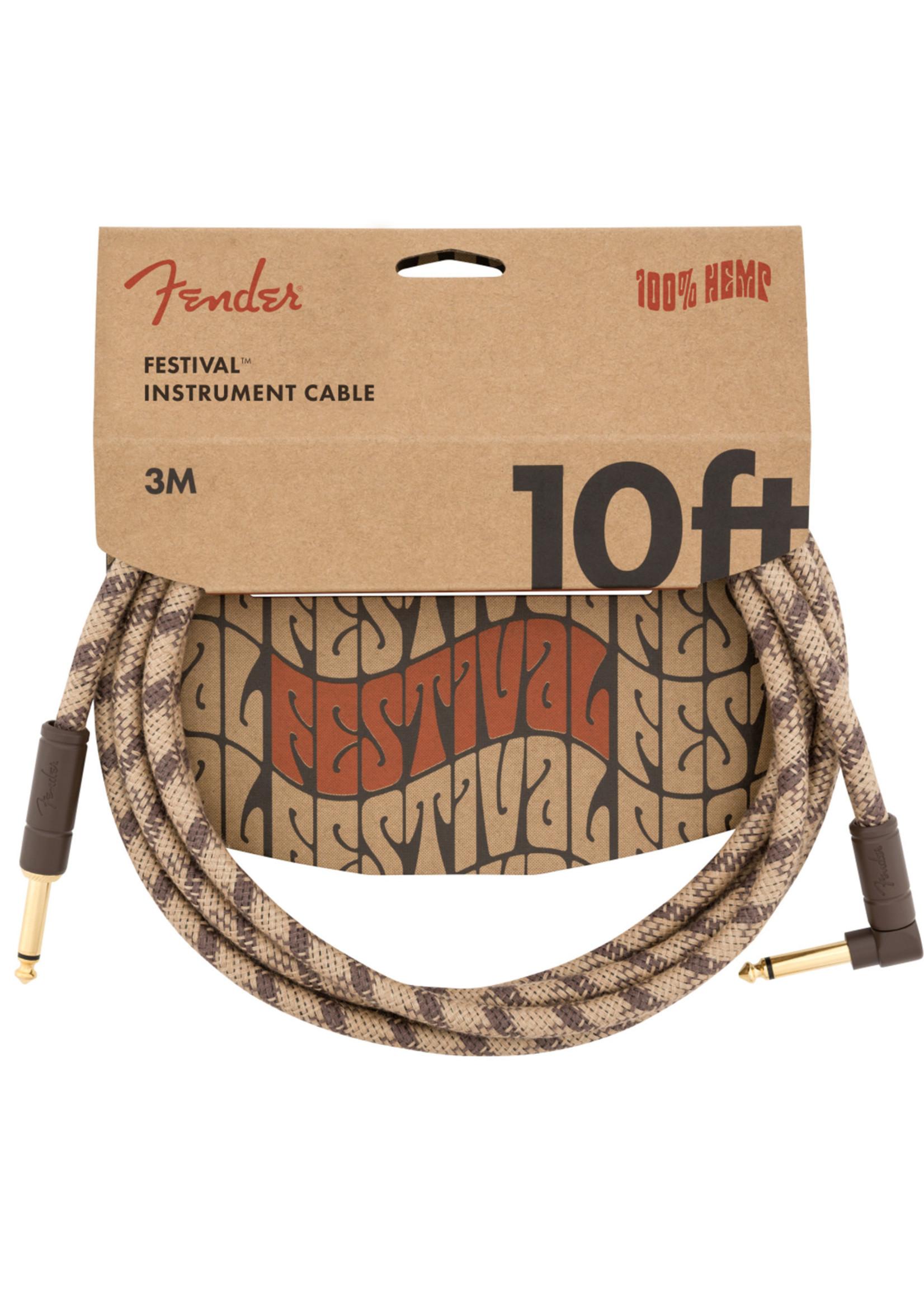 Fender Fender Festival Series 10 ft Right Angle Brown Stripe