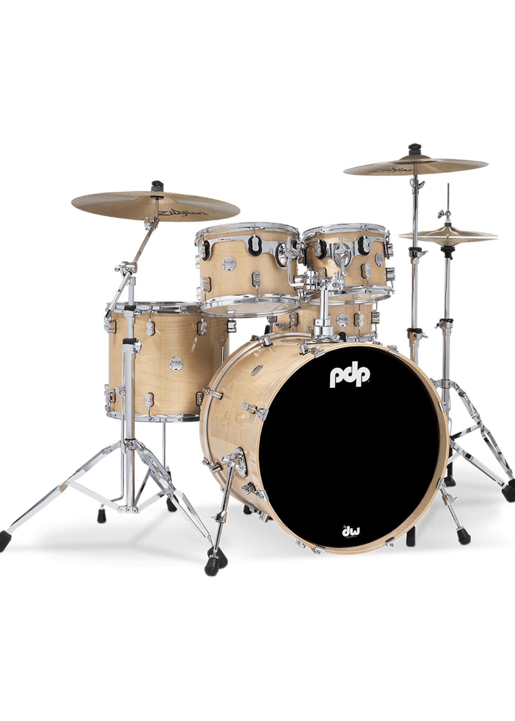 DW PDP Concept Maple 5 Piece Drumset Natural