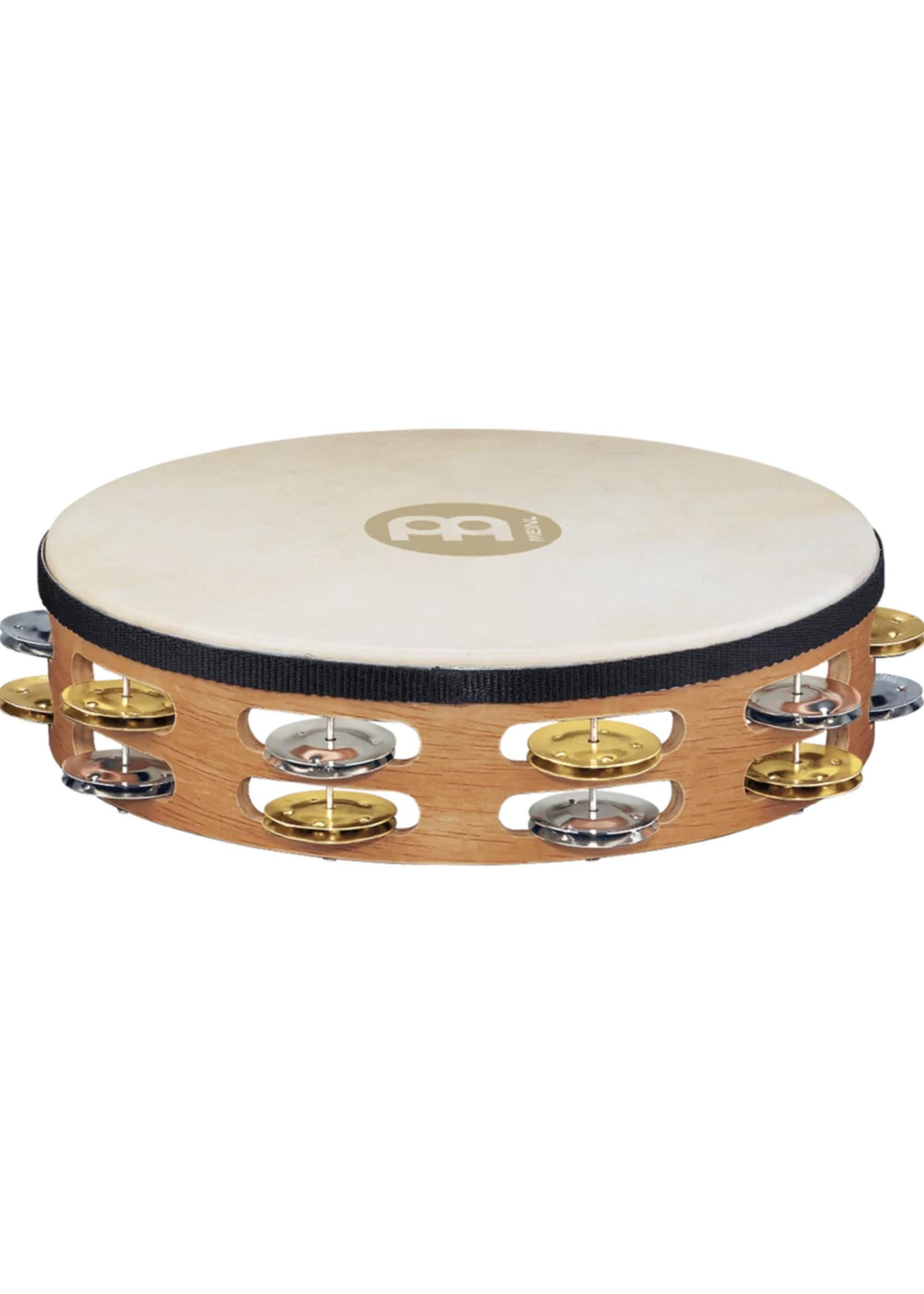 Meinl Headed Tambourine Dual alloy jingles Super Natural