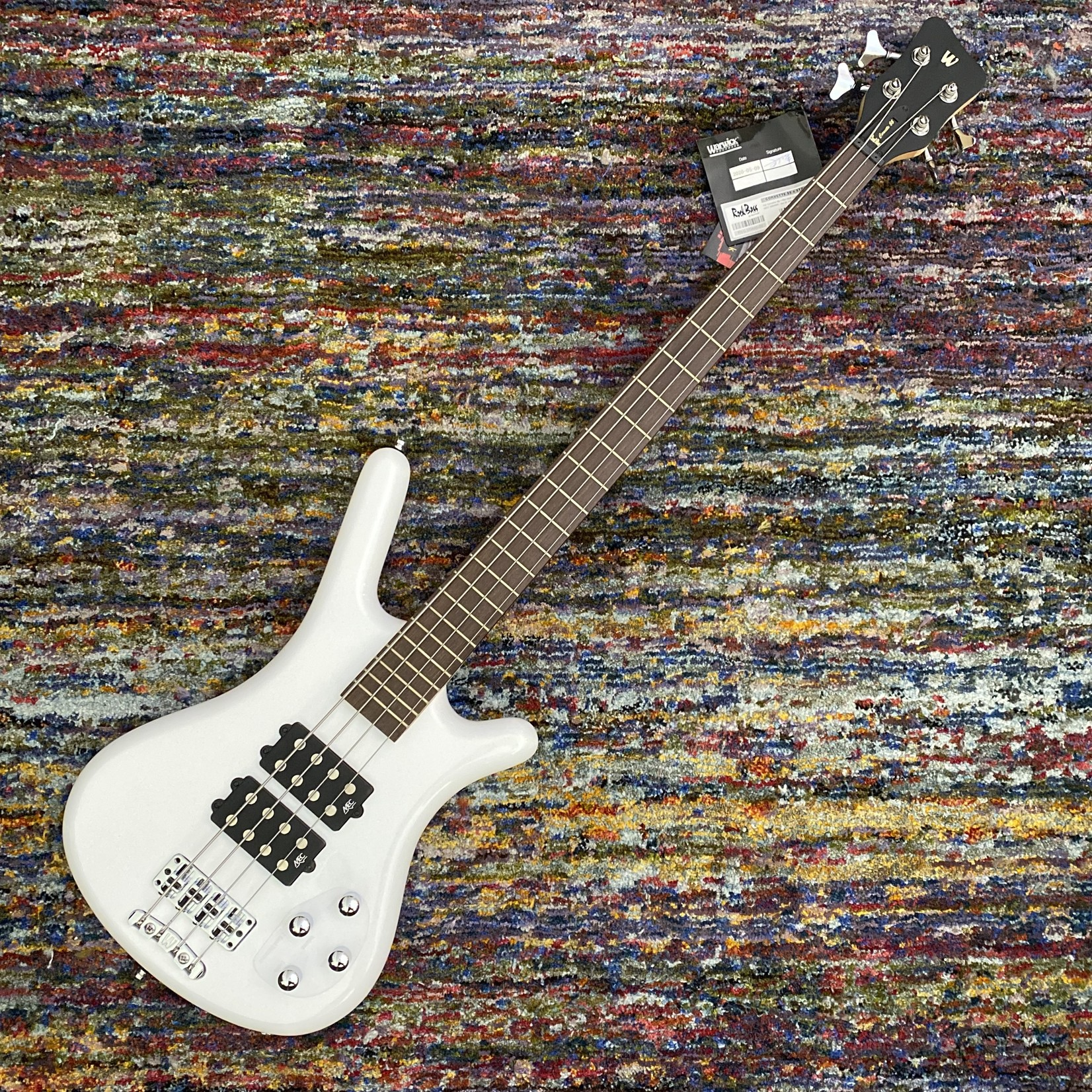Warwick Warwick RockBass Corvette $$, 4 String Solid White, High Polish (Ash)