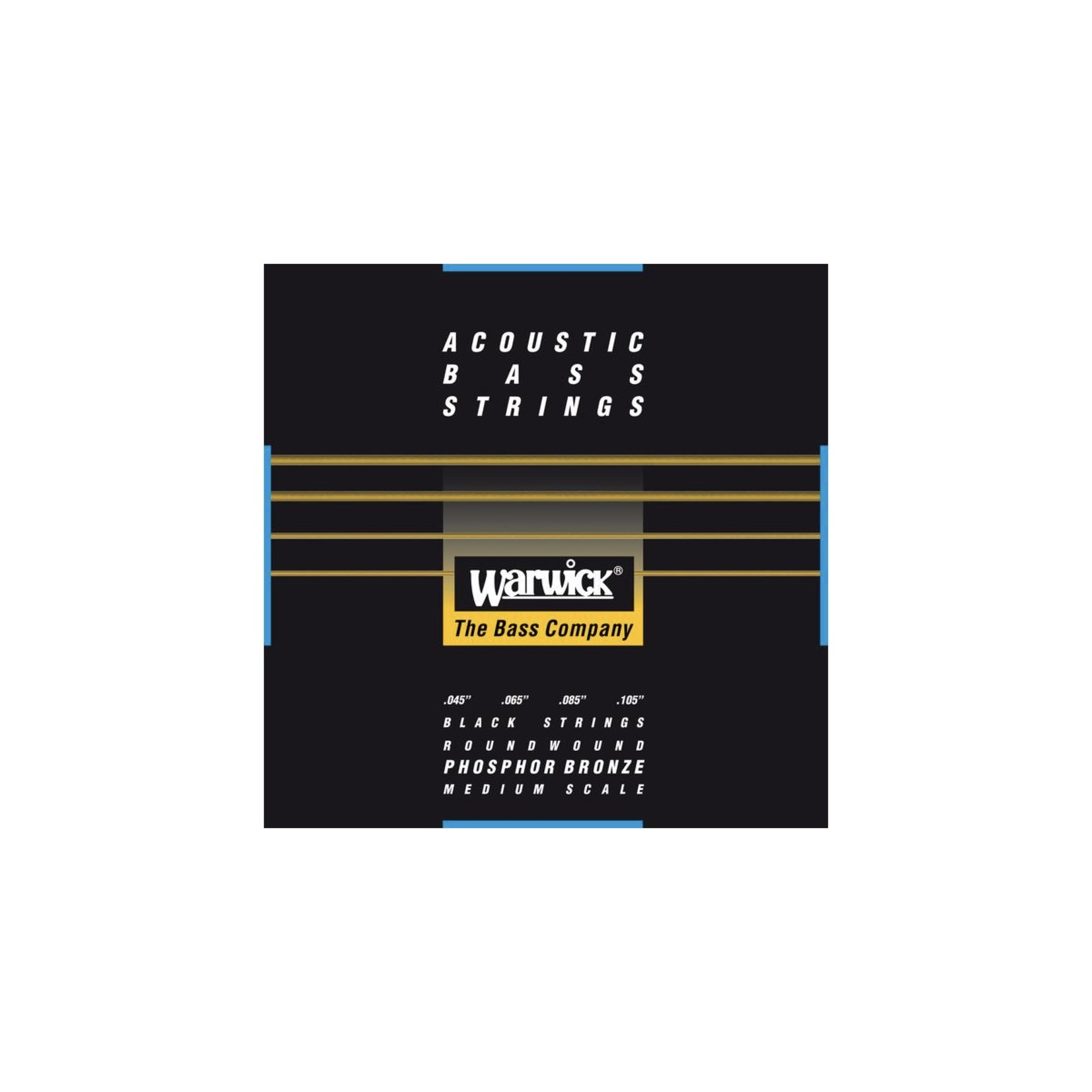 Warwick Warwick  Black Label - Acoustic Bass Strings, 4-String Set (45-105), Phosphor Bronze, Medium Scale