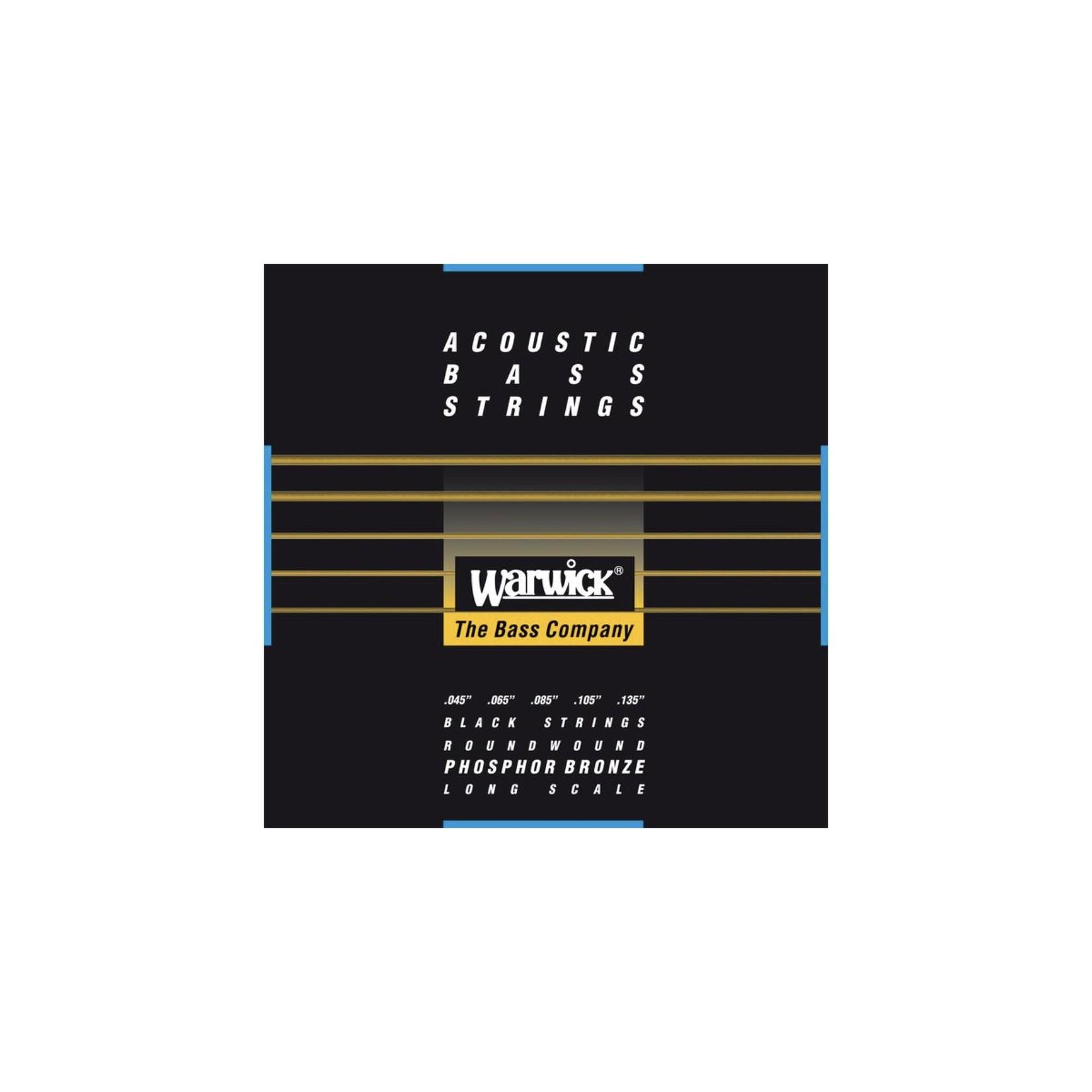 Warwick Warwick Black Label - Acoustic Bass Strings, 5-String Set (45-135), Phosphor Bronze, Long Scale