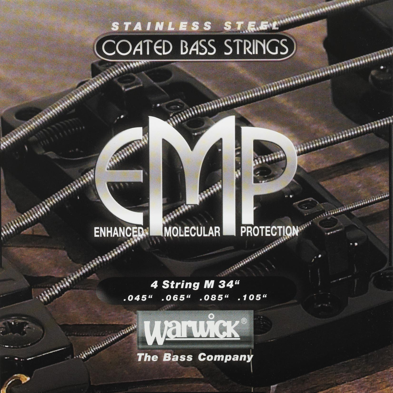 Warwick Warwick EMP Stainless Steel Coated - Bass String Set, 4-String, Medium, .045-.105 (38200 ML 4 045/105)