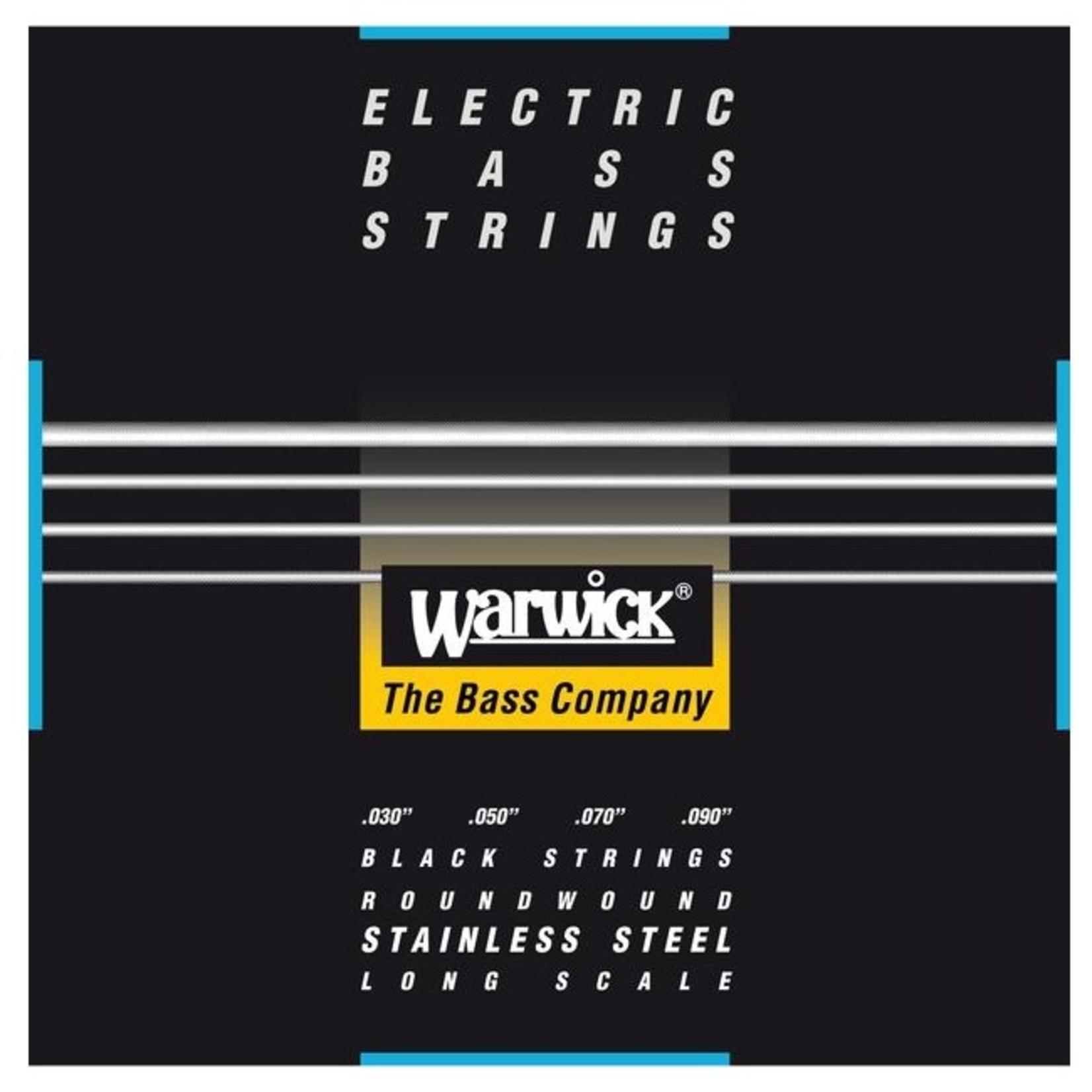 Warwick Warwick Black Label Bass Strings 4-String (Long Scale) Set, Extra-Light 030/090 (40220 XL 4)