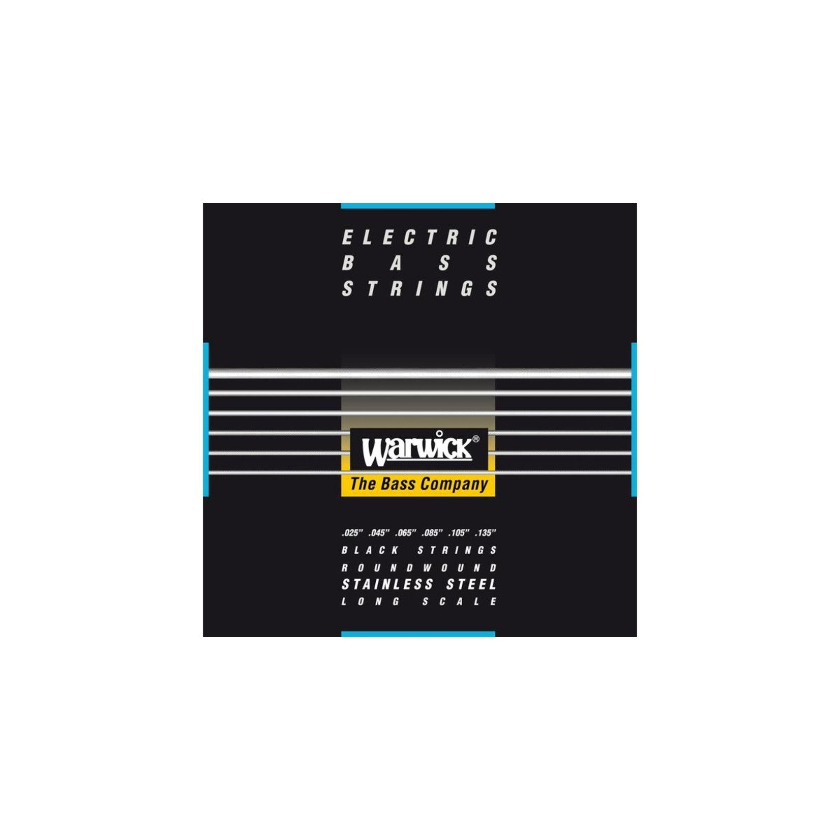 "Warwick Warwick Black Label Bass Strings, 6-String Set Medium, 025-135 (40401 M 6 025/135"")"